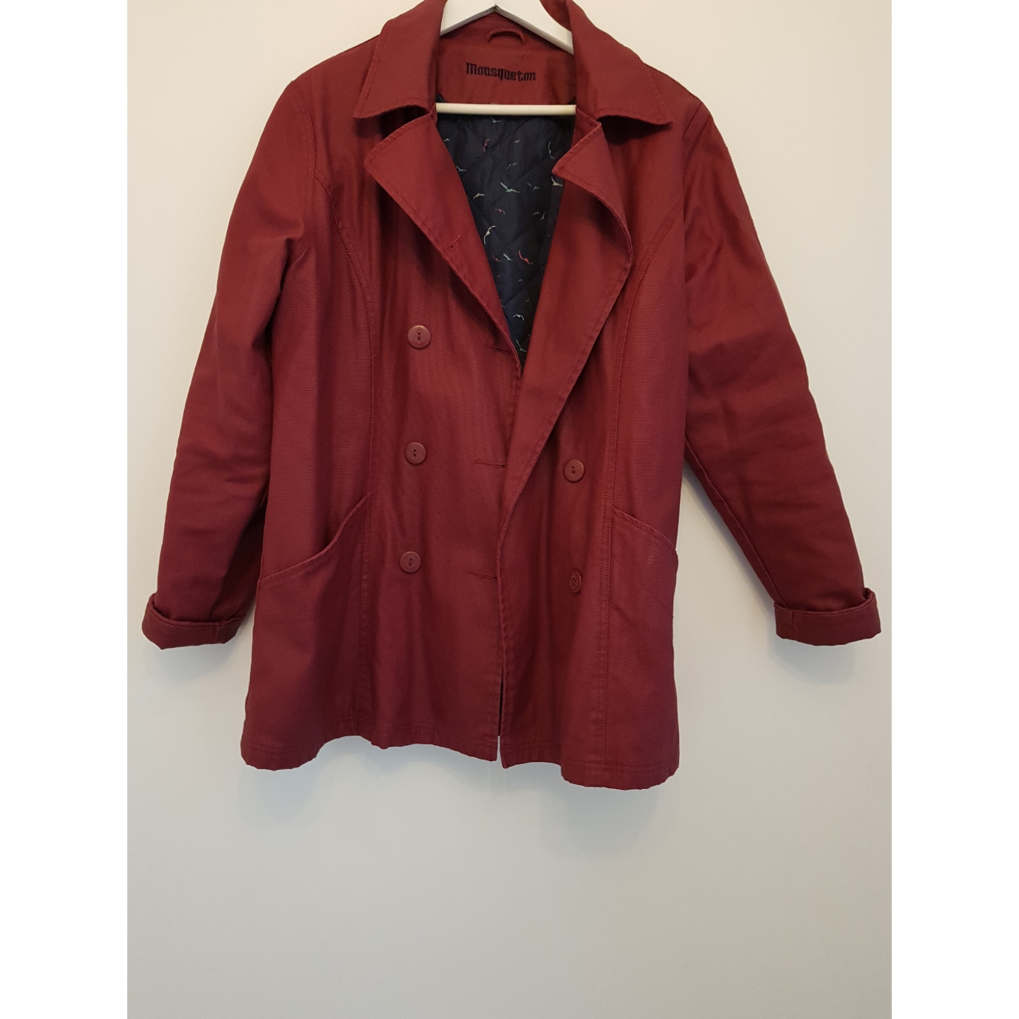 Imperméable, trench MOUSQUETON Rouge, bordeaux