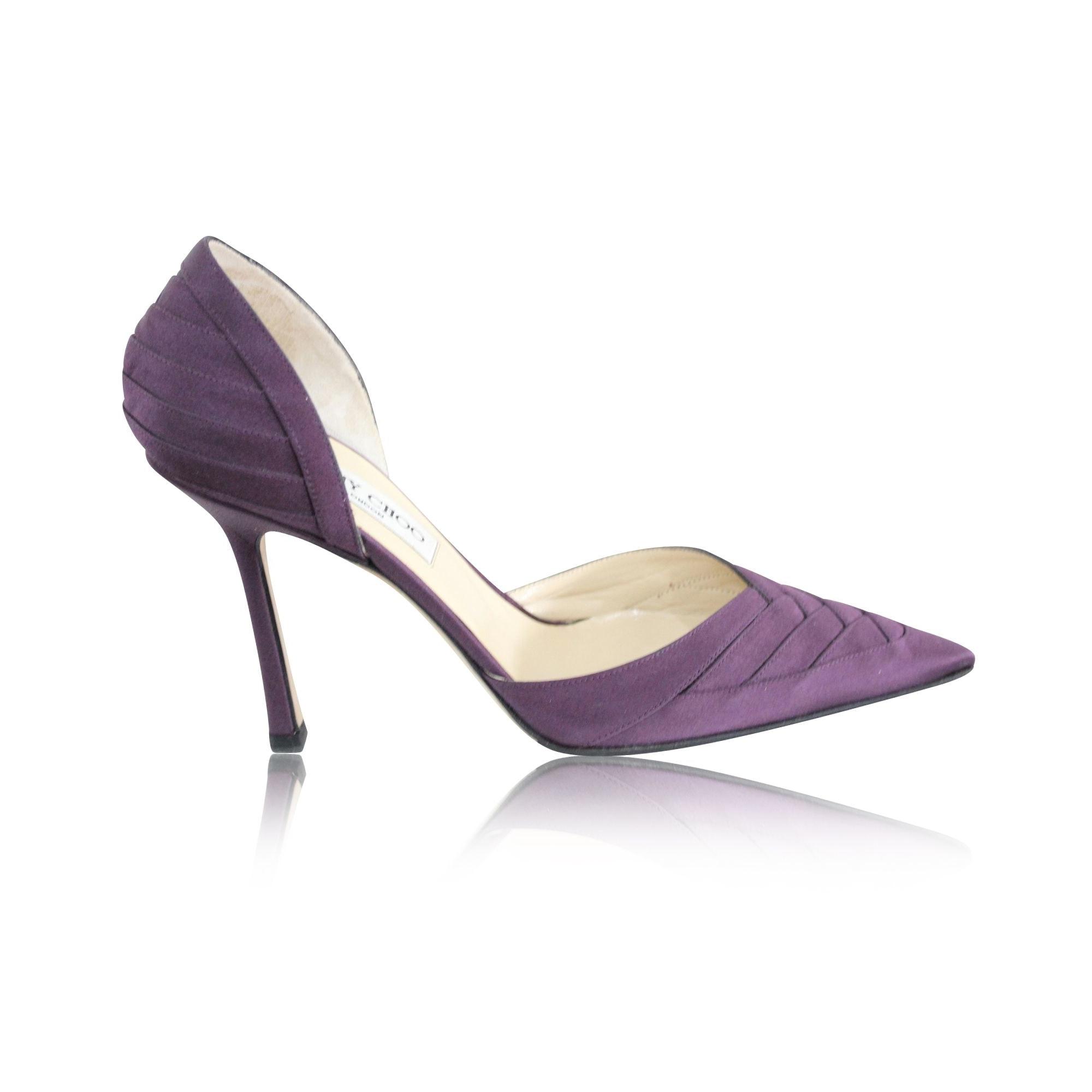 Peeptoes JIMMY CHOO Violett, malvenfarben, lavendelfarben