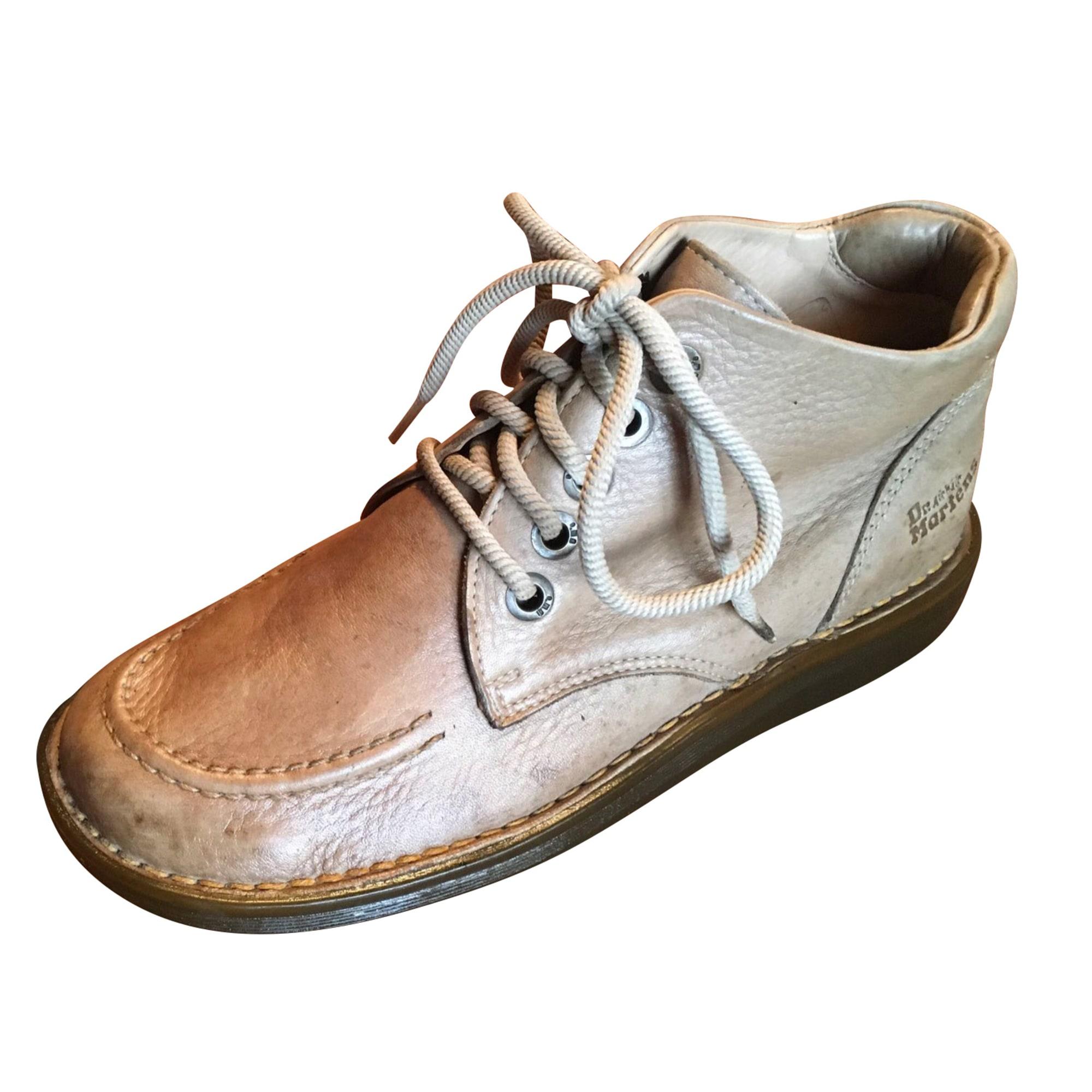 Bottines & low boots plates DR. MARTENS Beige, camel
