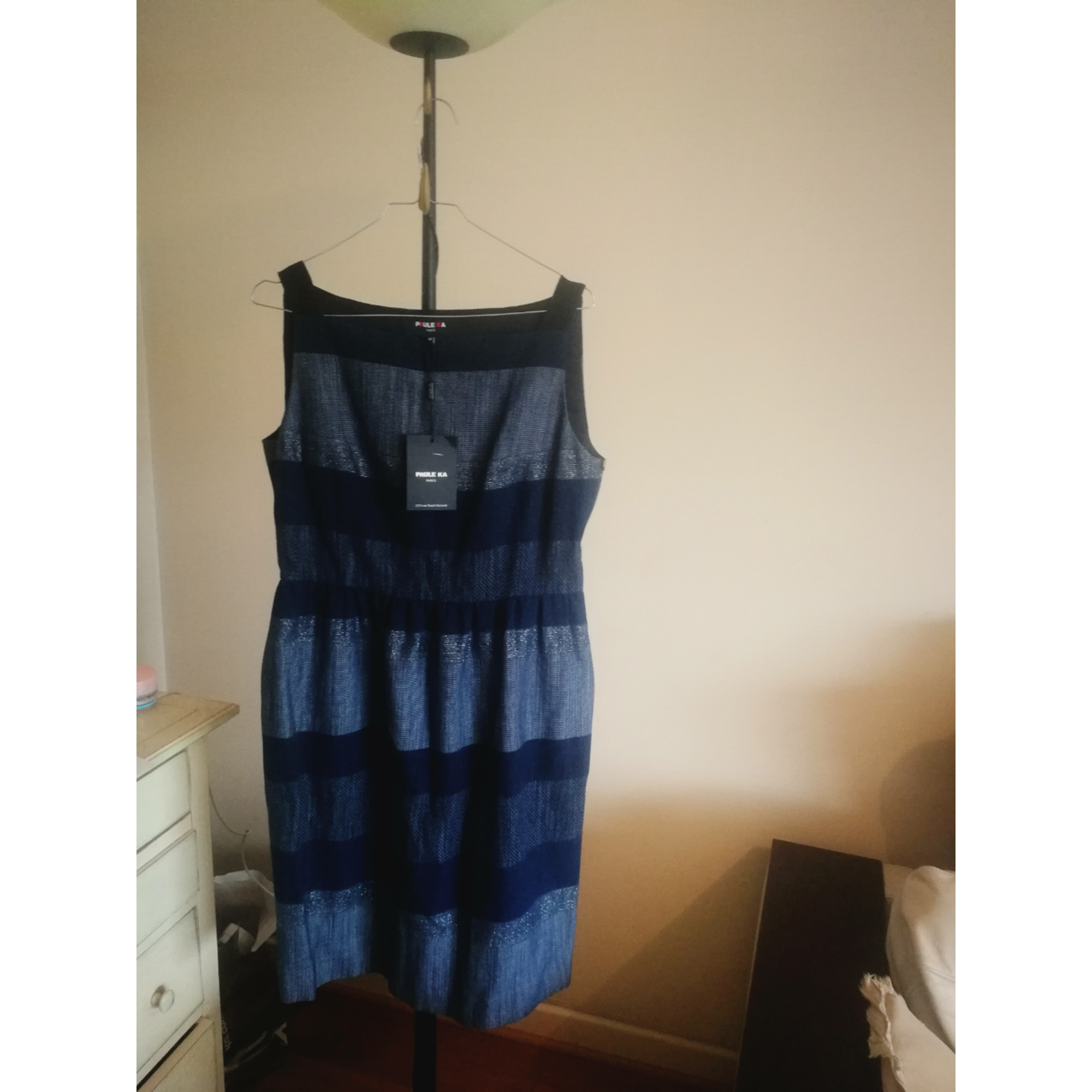 Robe mi-longue PAULE KA Bleu, bleu marine, bleu turquoise