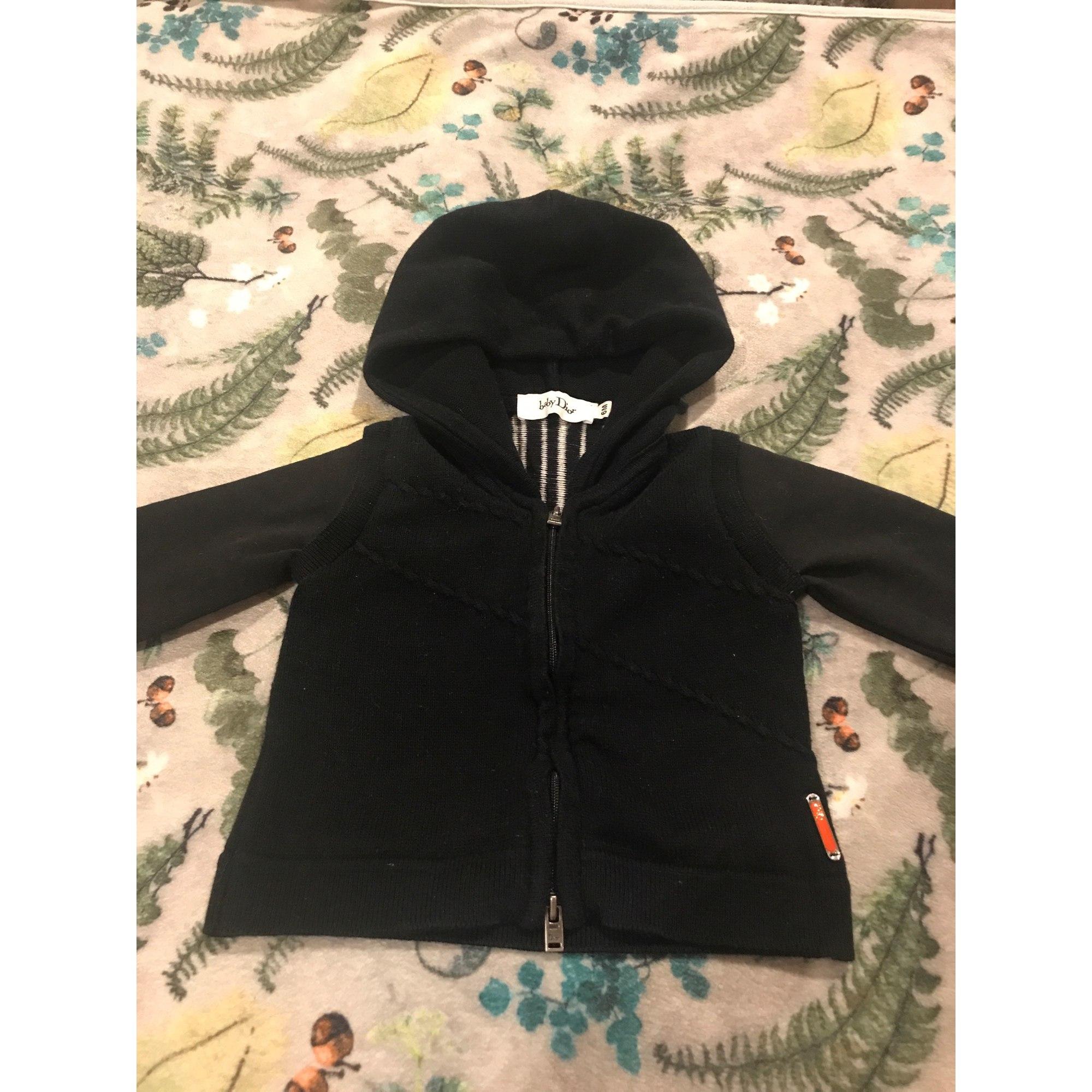 Vest, Cardigan BABY DIOR Black