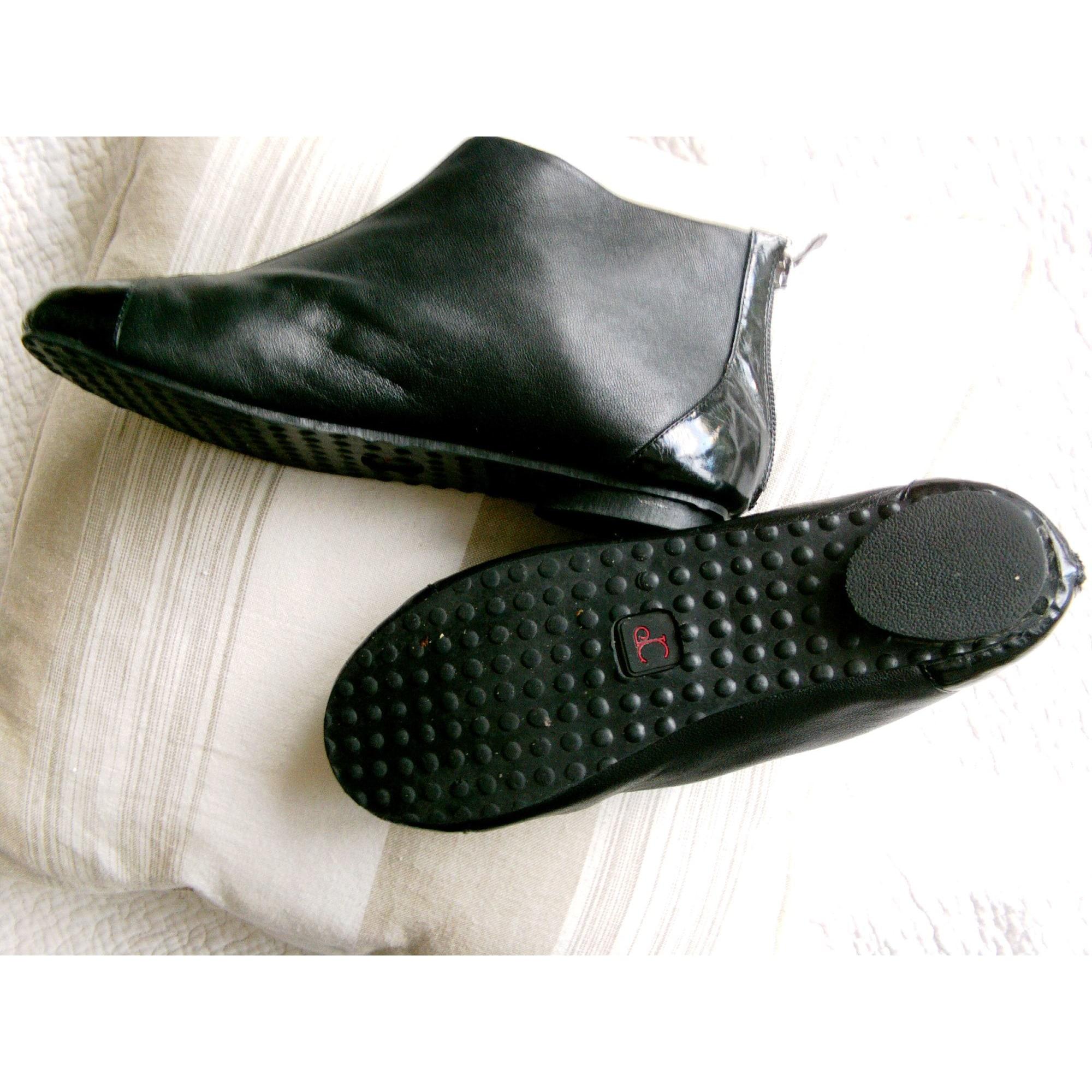 Bottines & low boots plates COULEUR POURPRE Noir