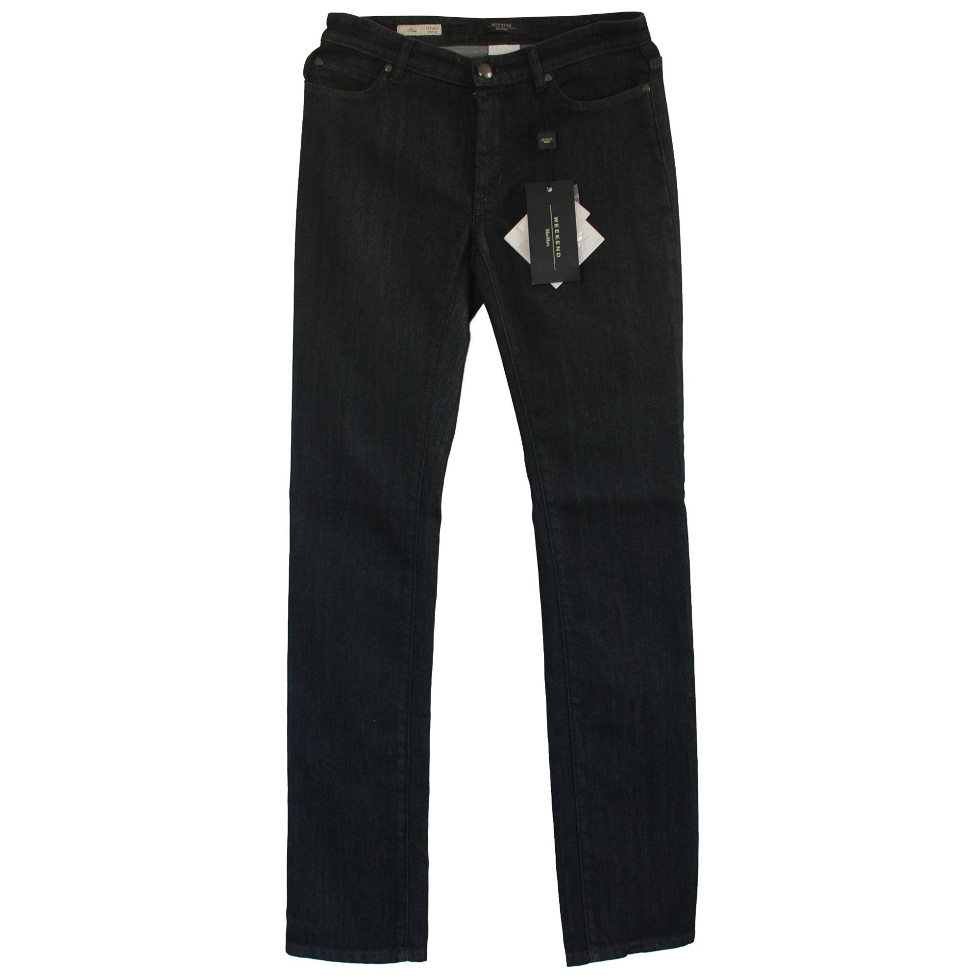 Jeans droit MAX MARA Gris, anthracite