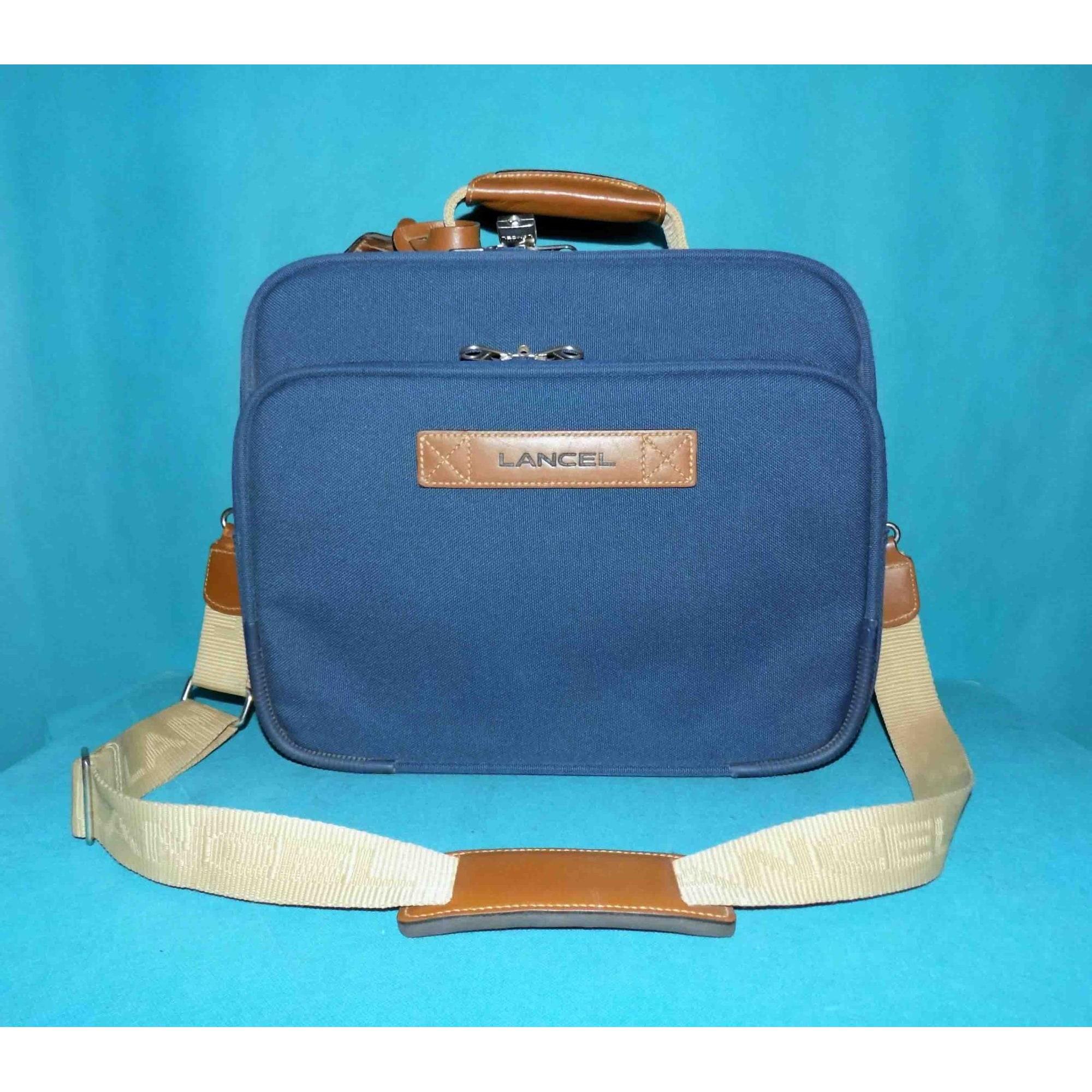 Mallette LANCEL Bleu, bleu marine, bleu turquoise