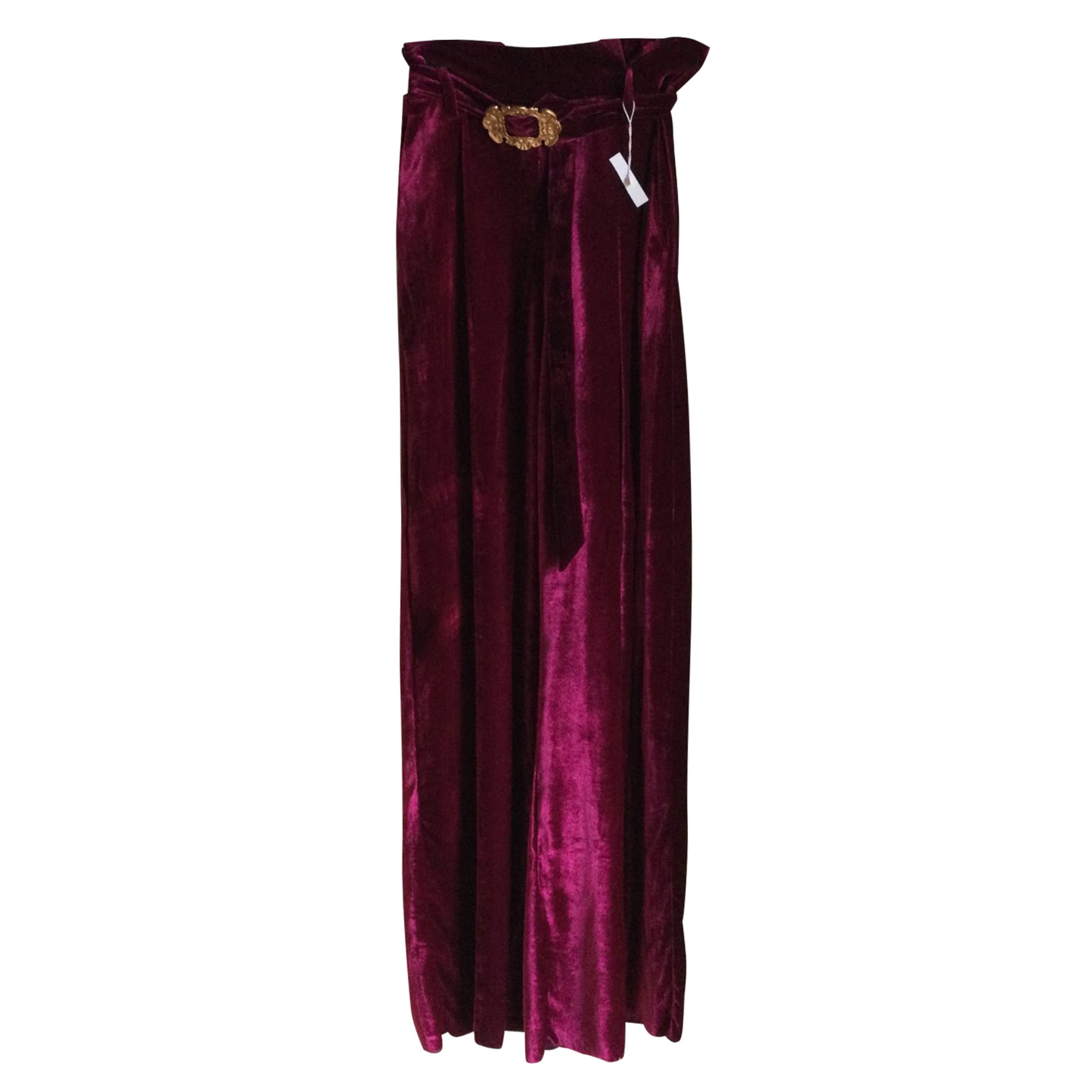 Pantalon large MAX MARA Rouge, bordeaux