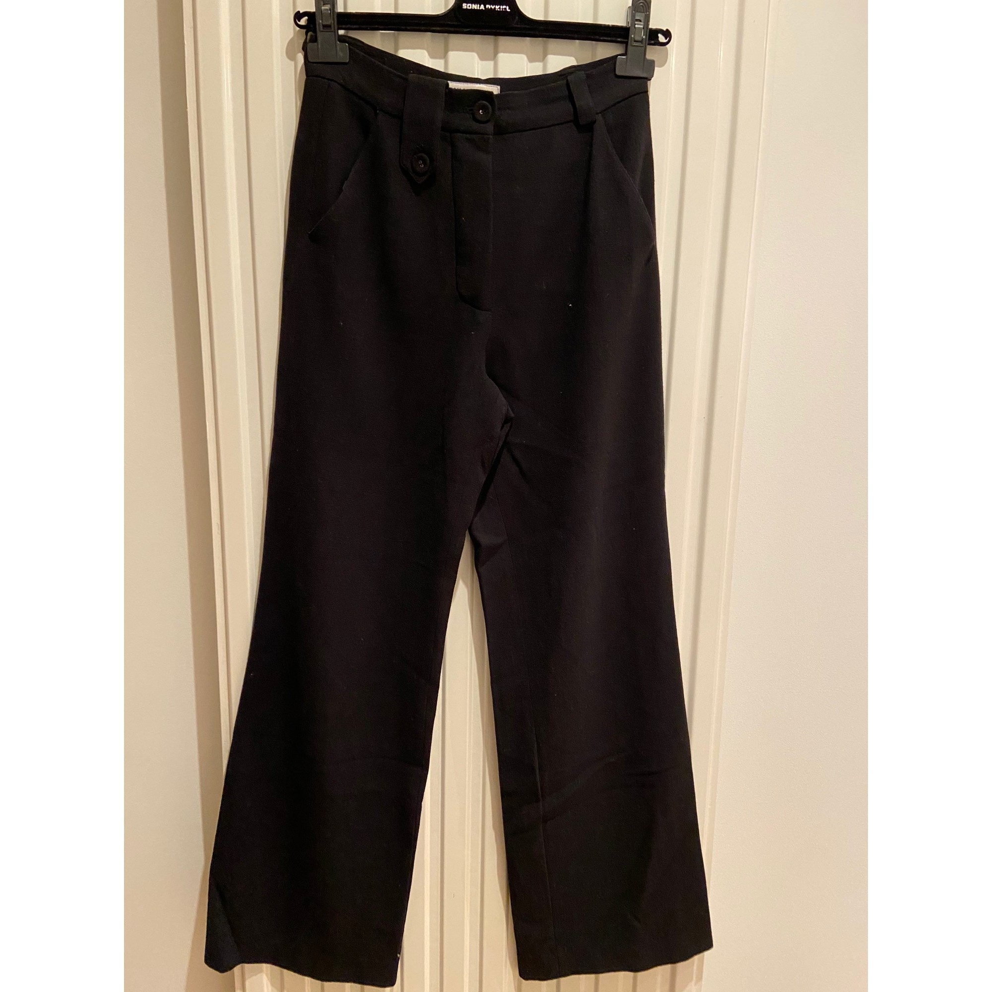 Pantalon large SONIA RYKIEL Noir