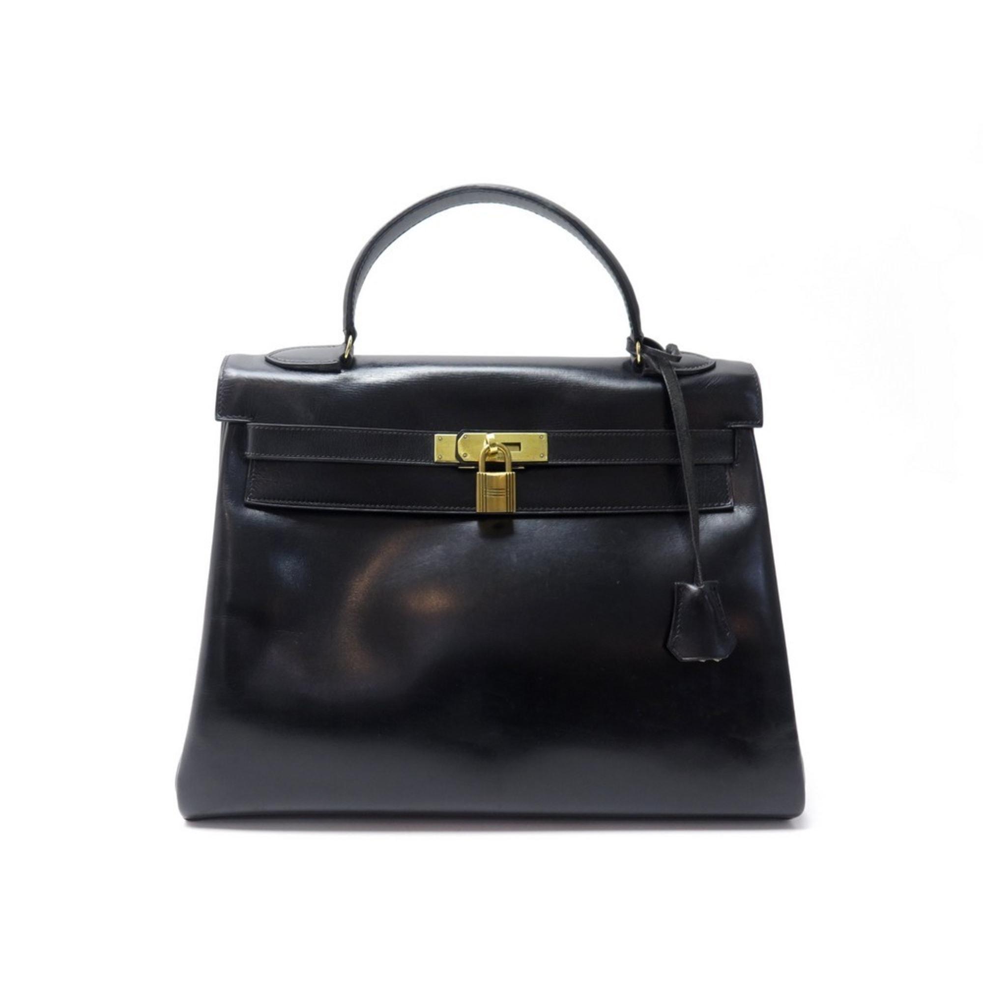 Lederhandtasche HERMÈS Kelly Noir