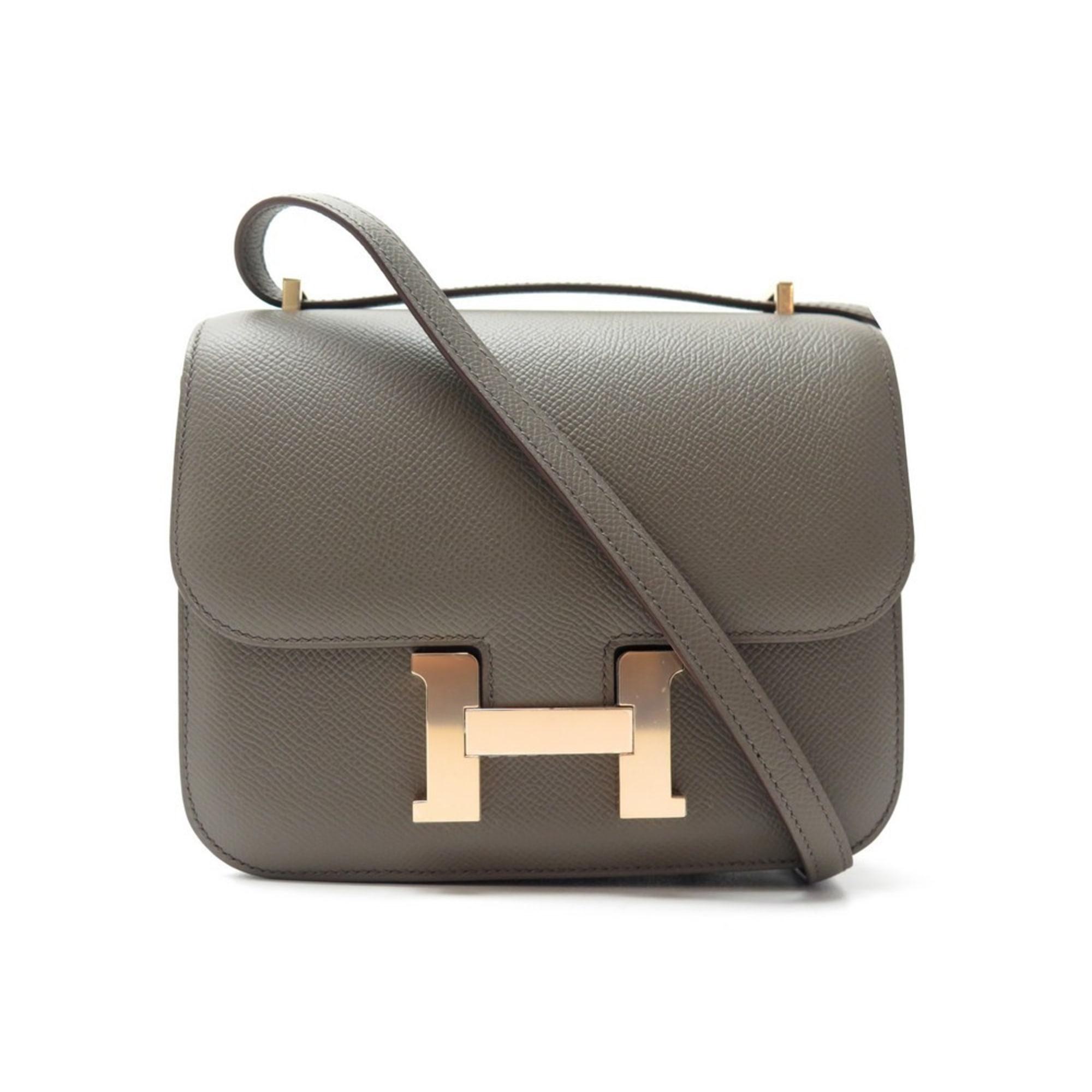 Lederhandtasche HERMÈS Constance taupe