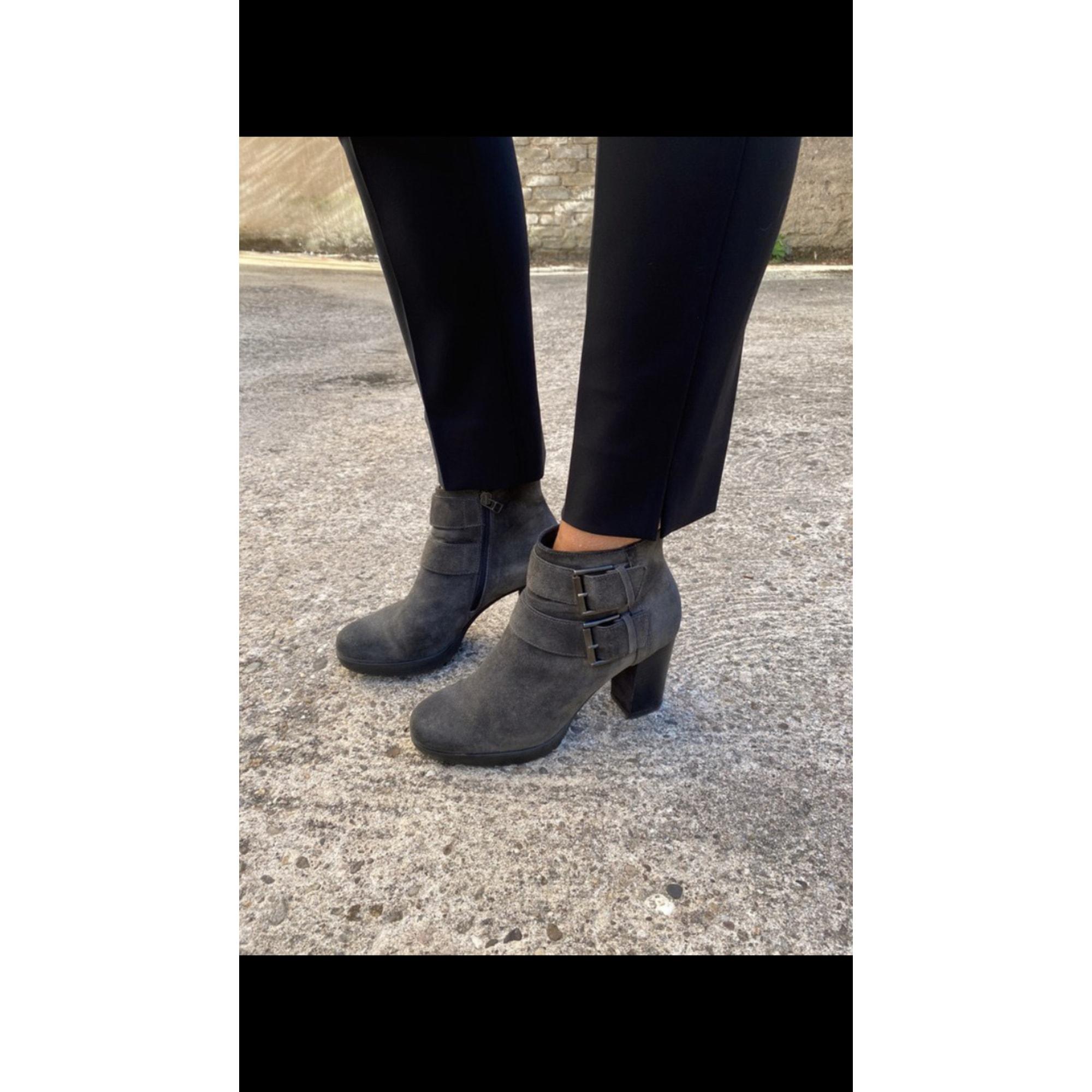Bottines & low boots à talons JANET SPORT Gris, anthracite