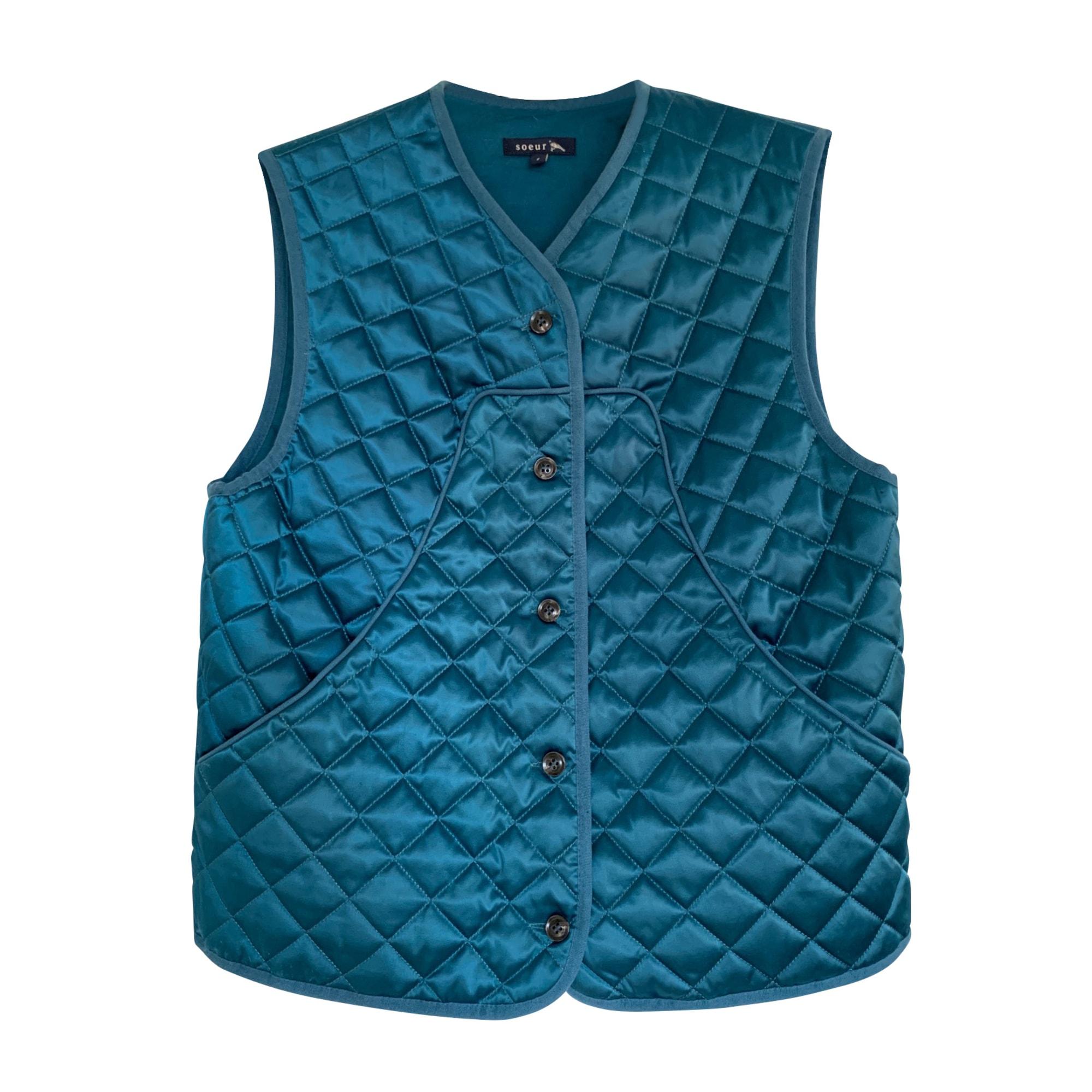 Veste SOEUR Bleu, bleu marine, bleu turquoise
