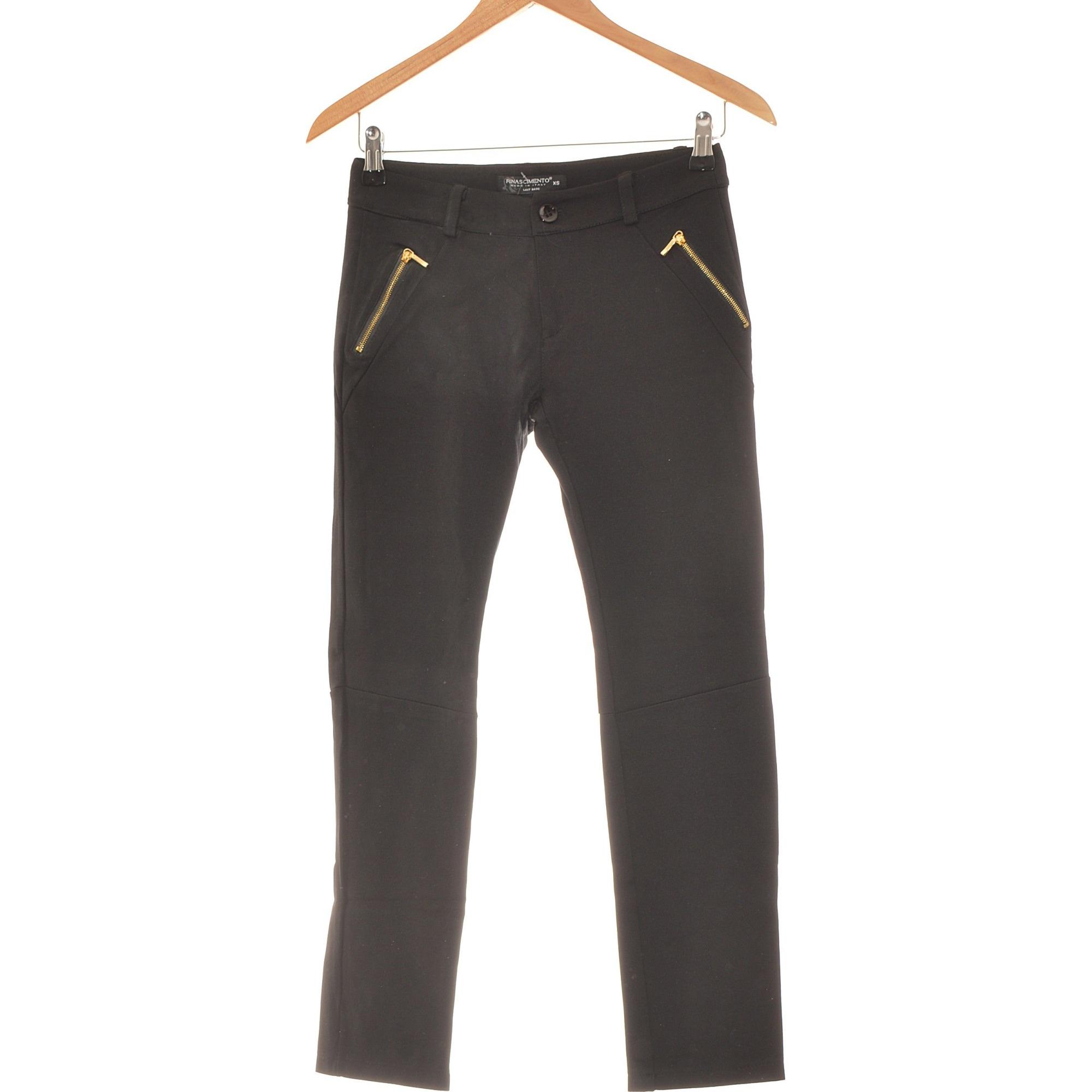 Pantalon slim, cigarette RINASCIMENTO Noir