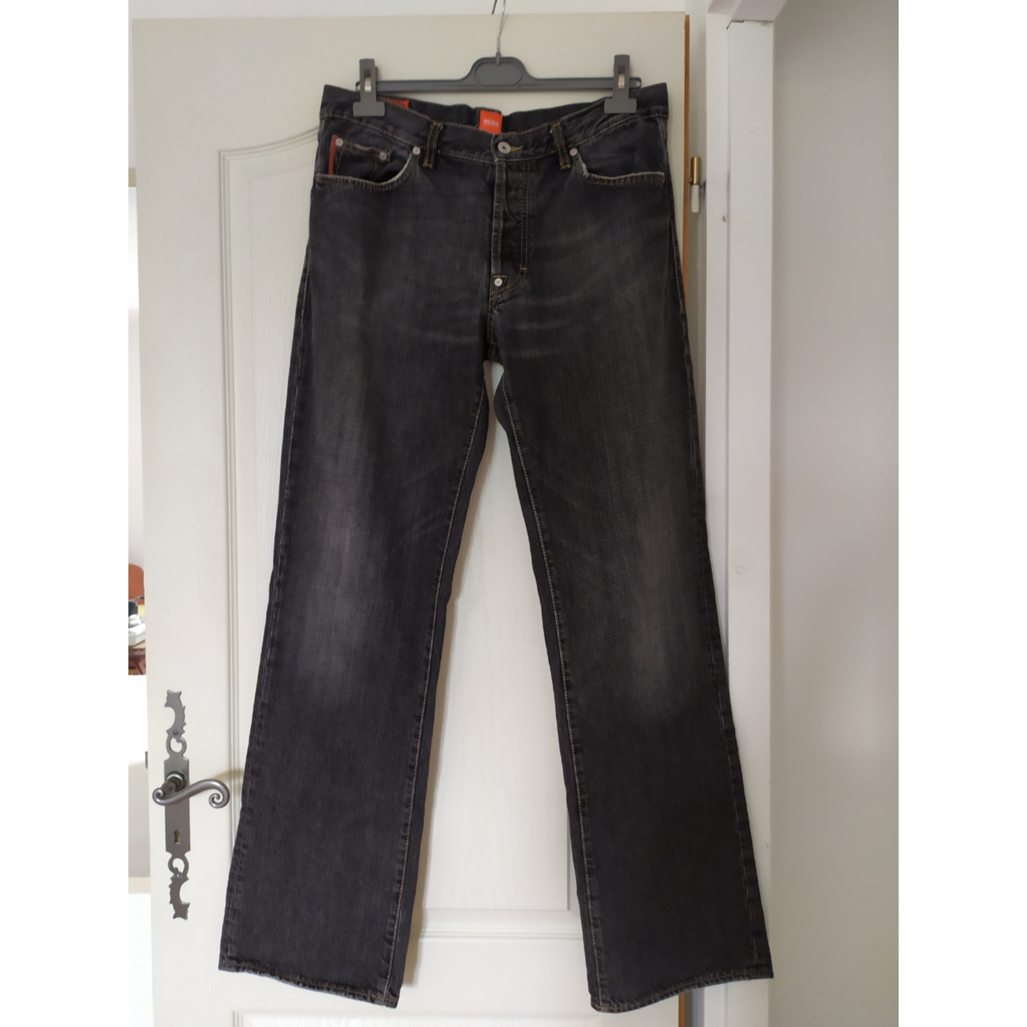 Straight Leg Jeans HUGO BOSS Black