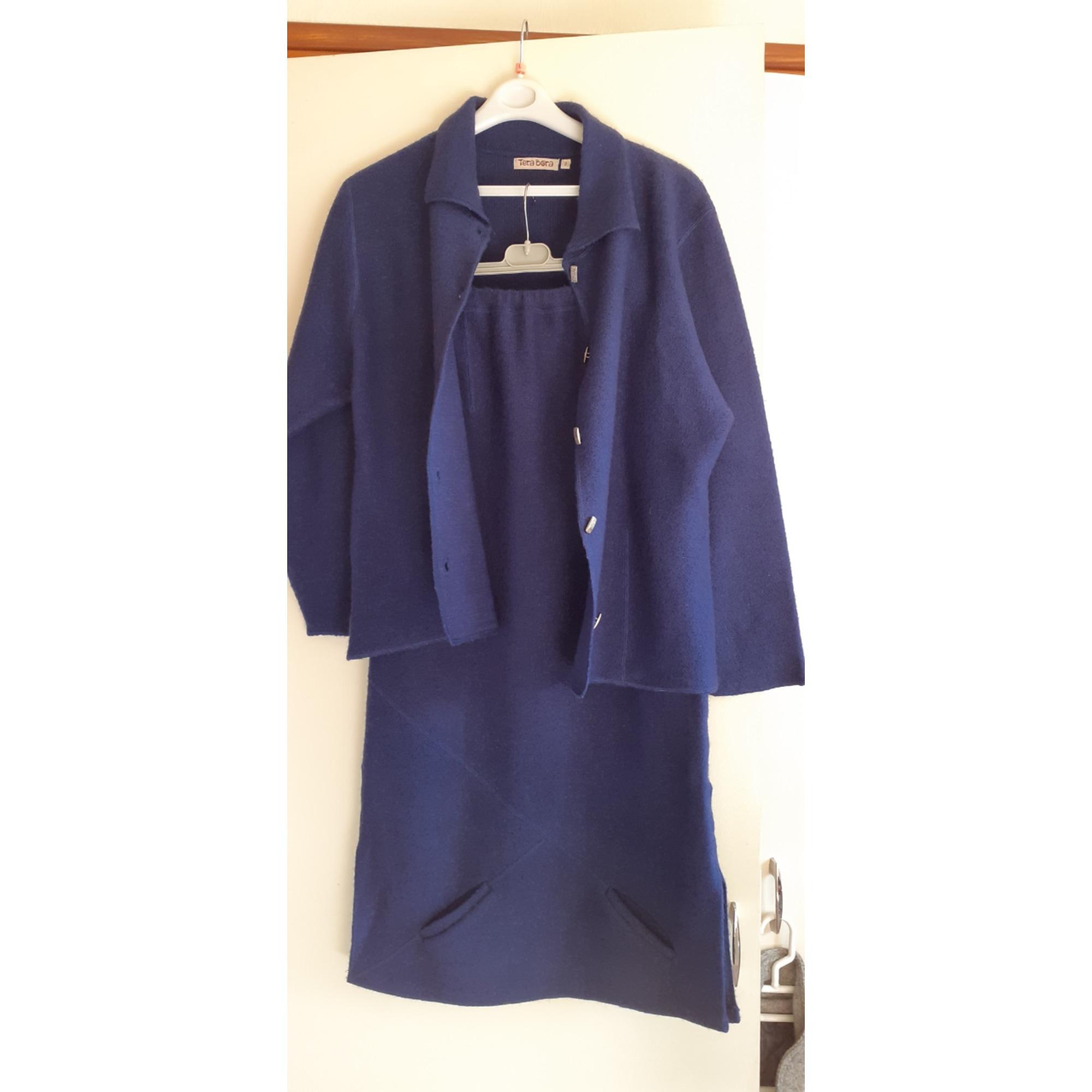 Gilet, cardigan TERA BORA Bleu, bleu marine, bleu turquoise