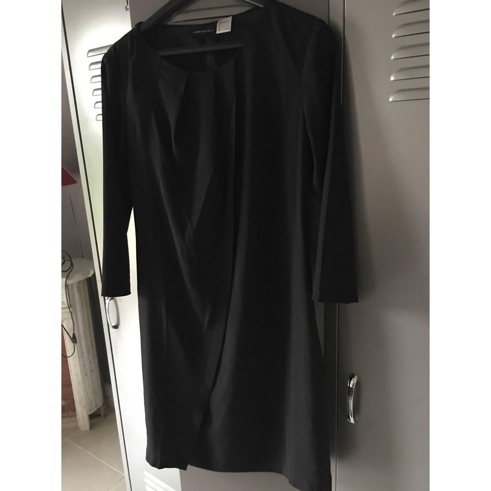 Robe courte LAURA CLÉMENT Noir