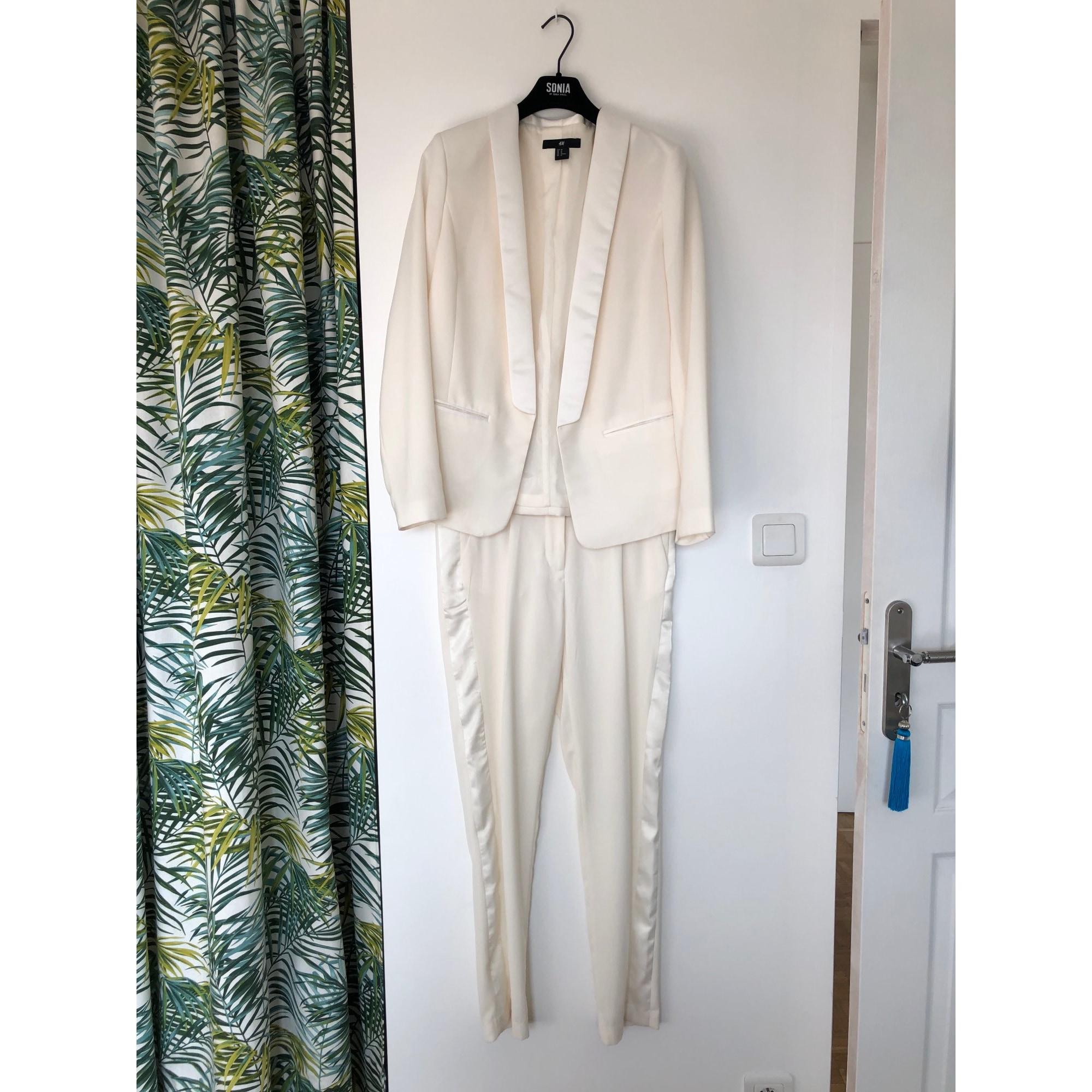 Tailleur pantalon H&M Blanc, blanc cassé, écru