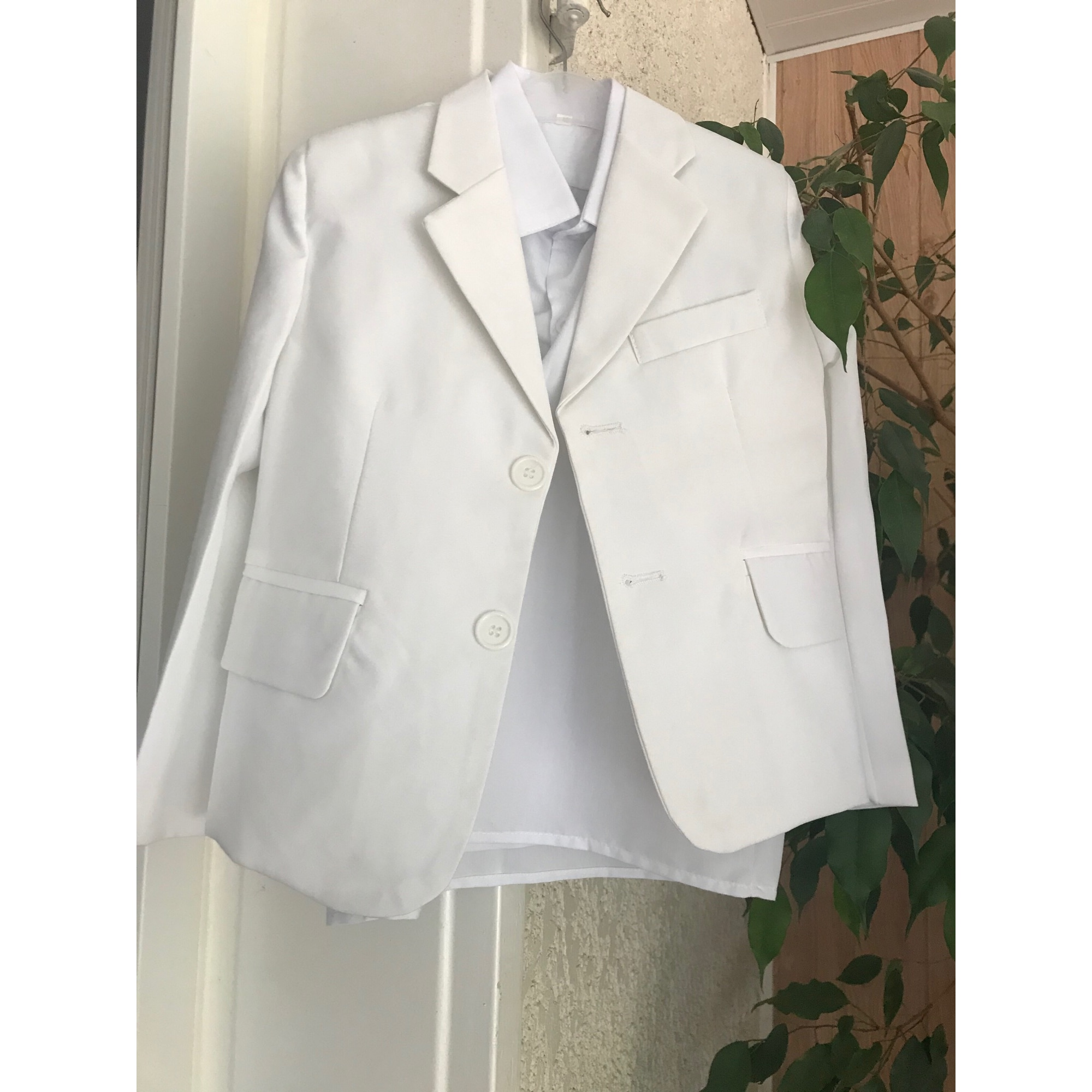 Pants Set, Outfit BOUTIQUE MARIAGE White, off-white, ecru