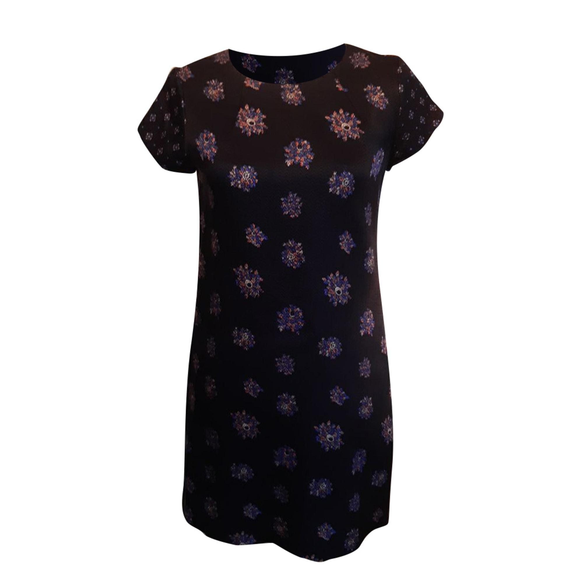 Robe courte CLUB MONACO noir, bleu et rose