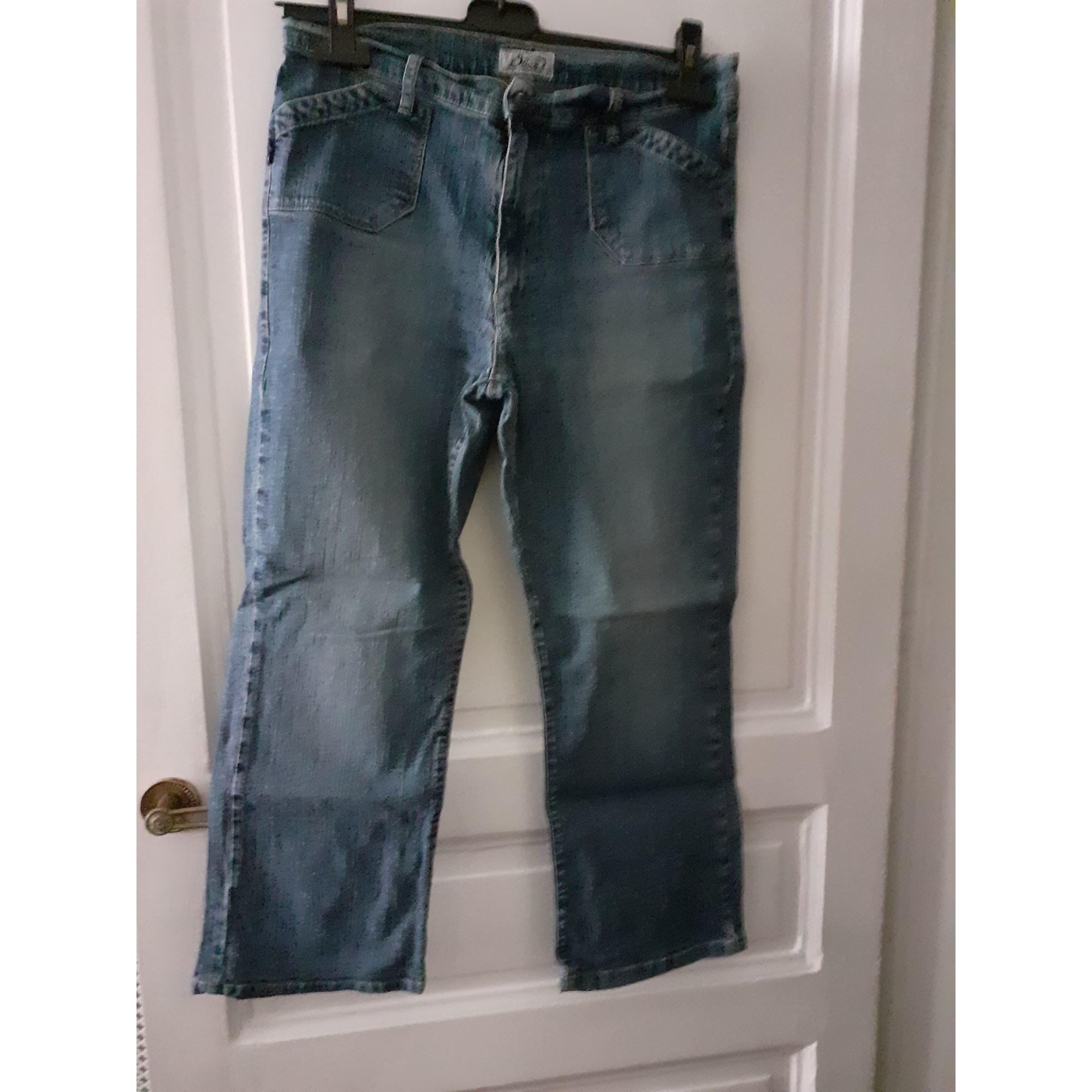 Jeans droit OBER Bleu, bleu marine, bleu turquoise