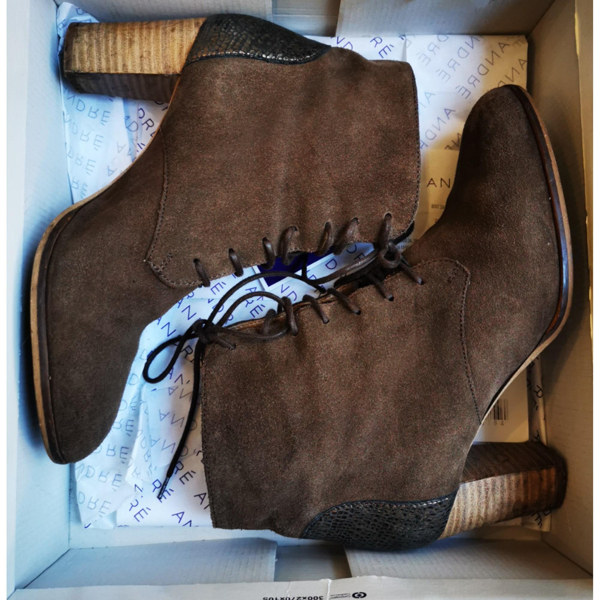 Bottines & low boots à talons ANDRÉ Kaki