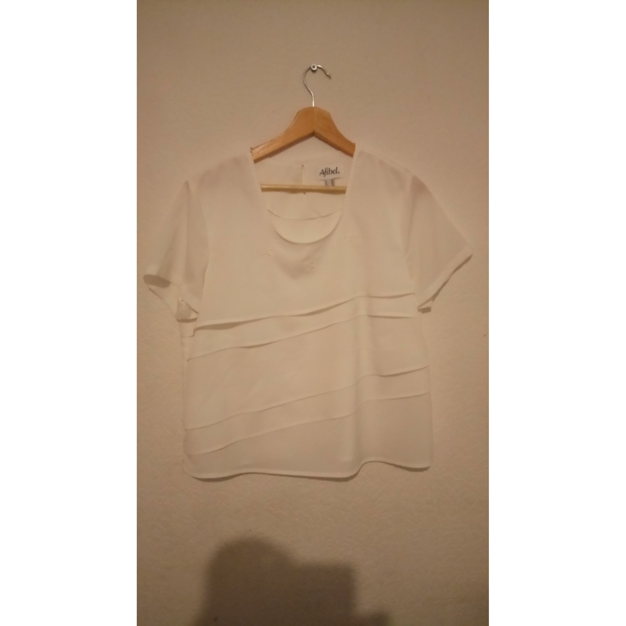Top, tee-shirt AFIBEL Blanc, blanc cassé, écru