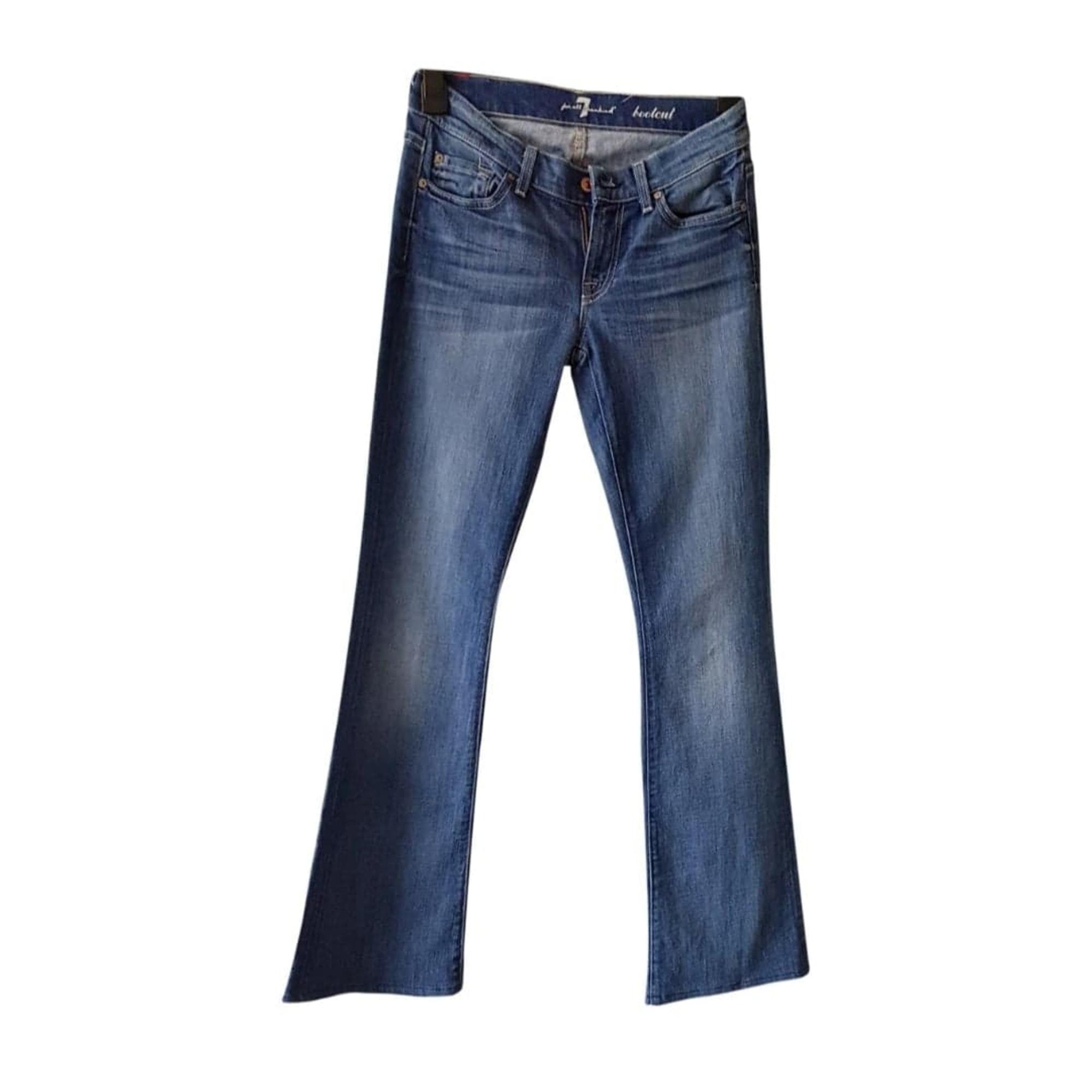 Jeans large, boyfriend 7 FOR ALL MANKIND Bleu, bleu marine, bleu turquoise