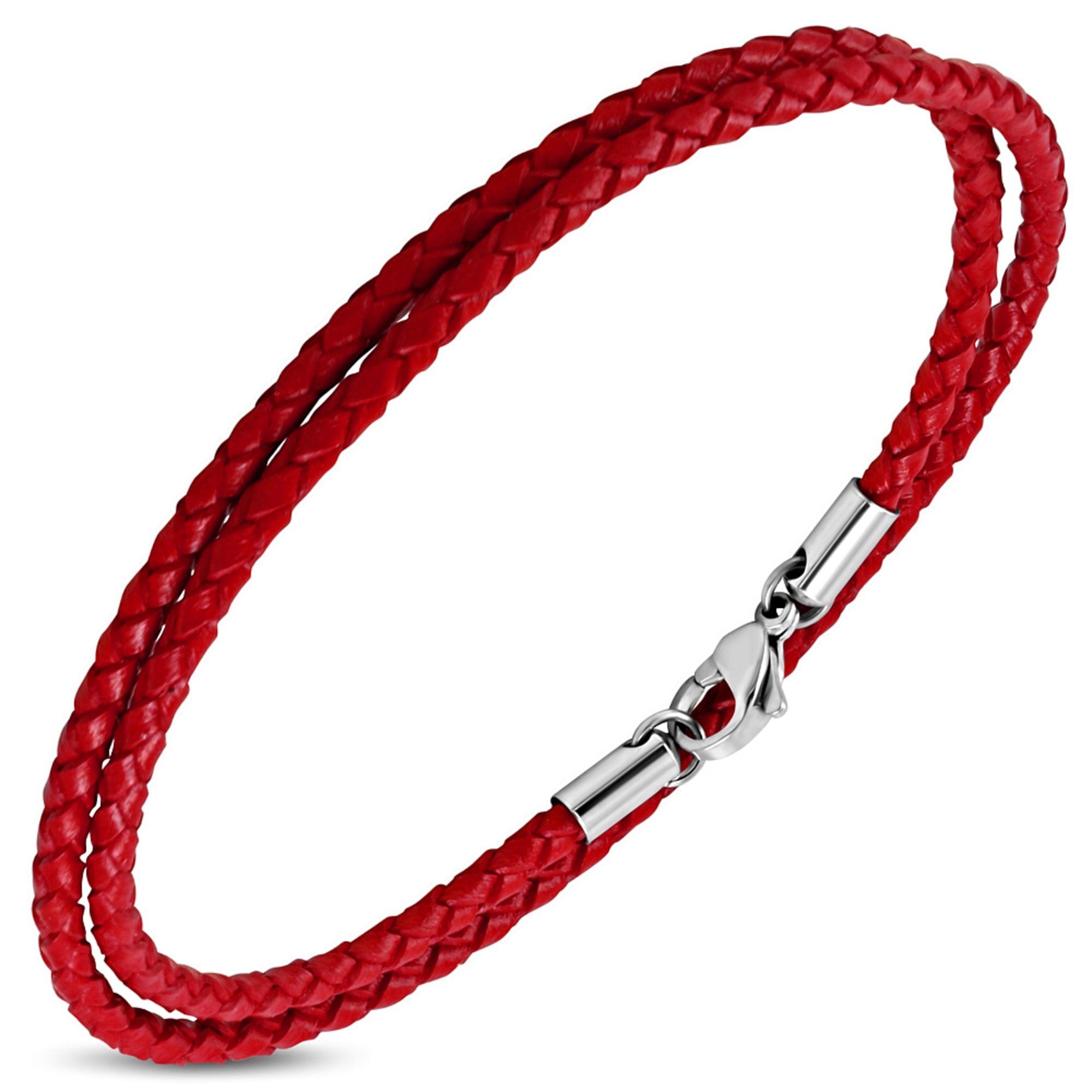 Bracelet ZENSE Rouge, bordeaux