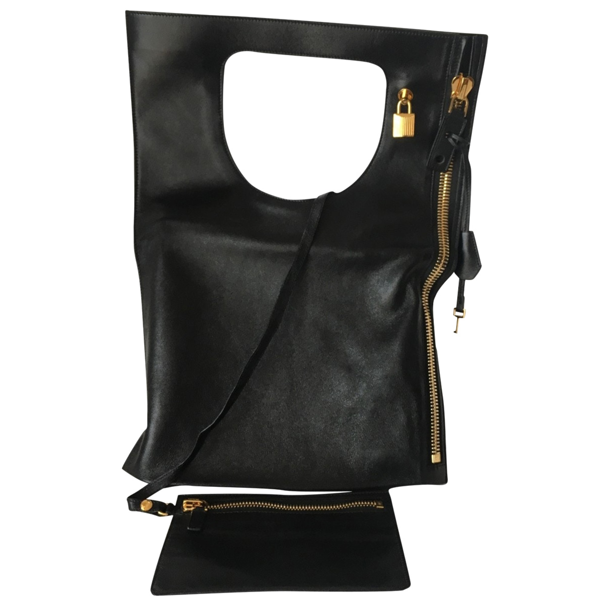 Sac à main en cuir TOM FORD Noir