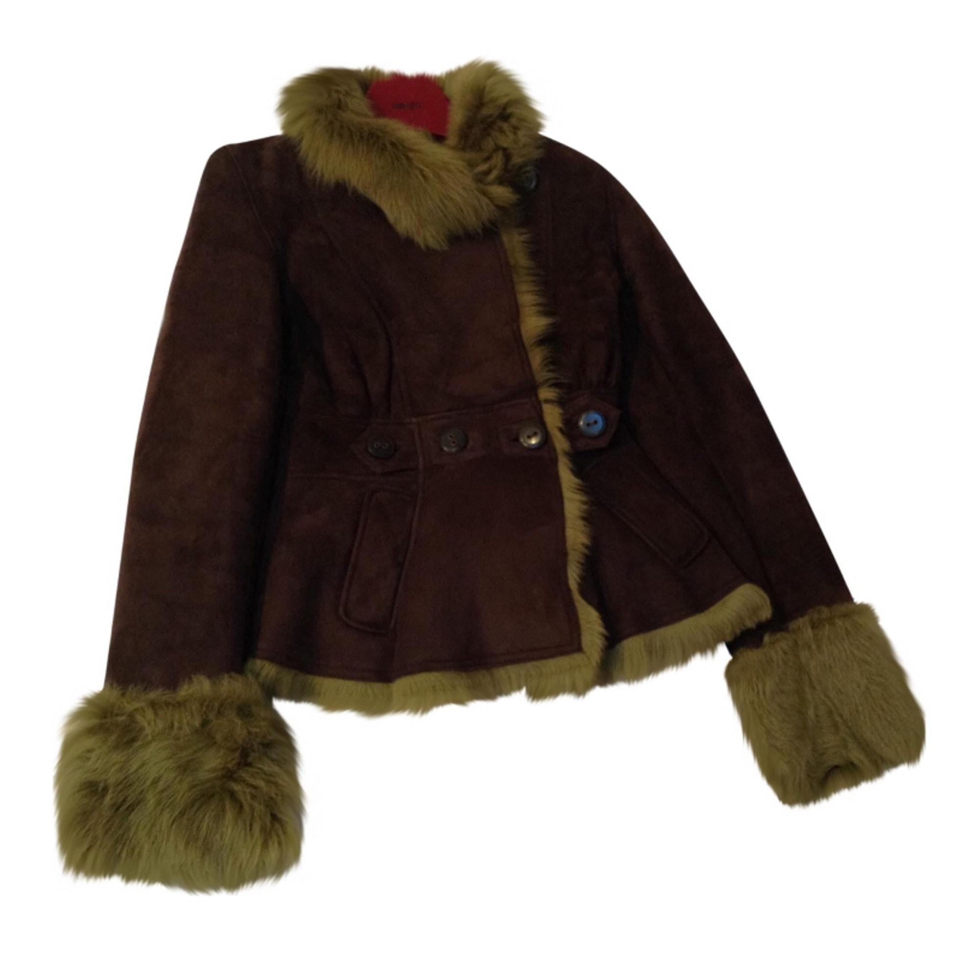 Manteau en fourrure KENZO Marron
