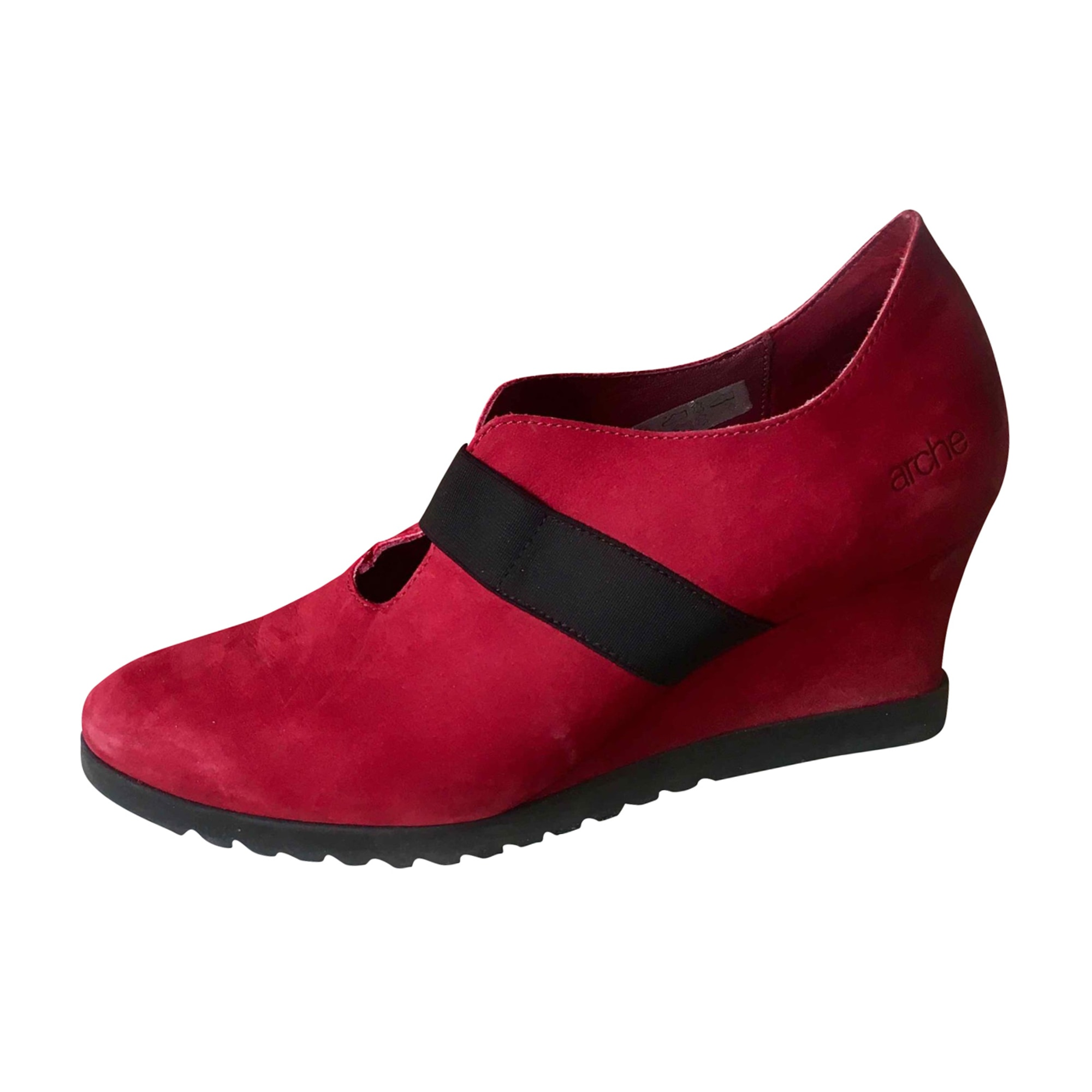 Wedge Ankle Boots ARCHE Red, burgundy