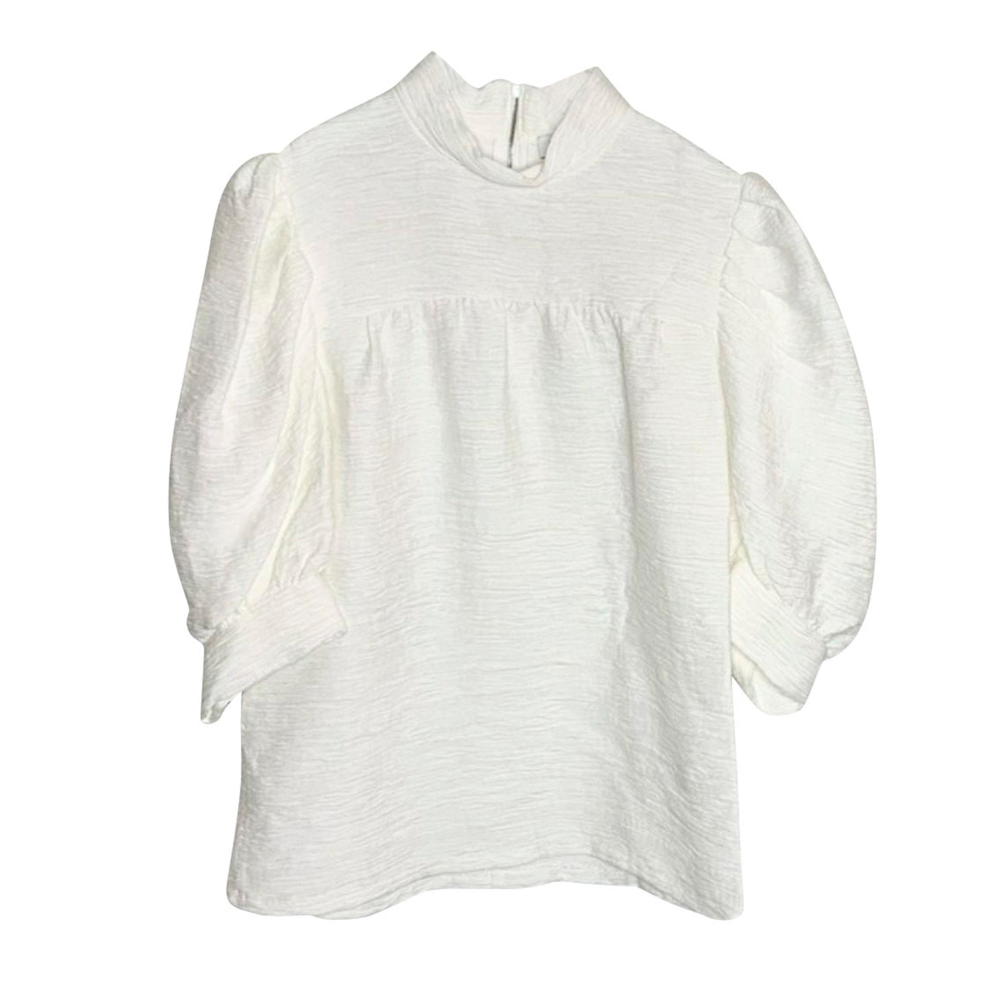 Top, tee-shirt SANDRO Blanc, blanc cassé, écru