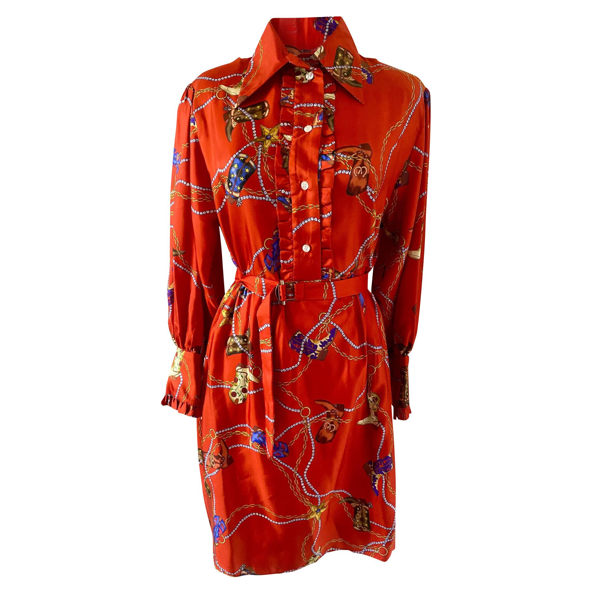 Robe courte SANDRO Rouge, bordeaux