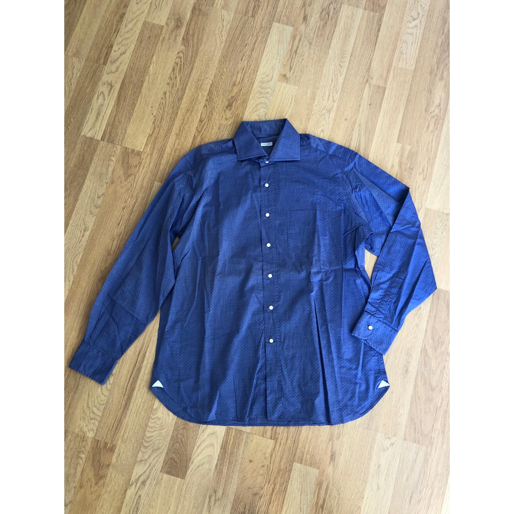 Chemise FRANCK NAMANI Bleu, bleu marine, bleu turquoise