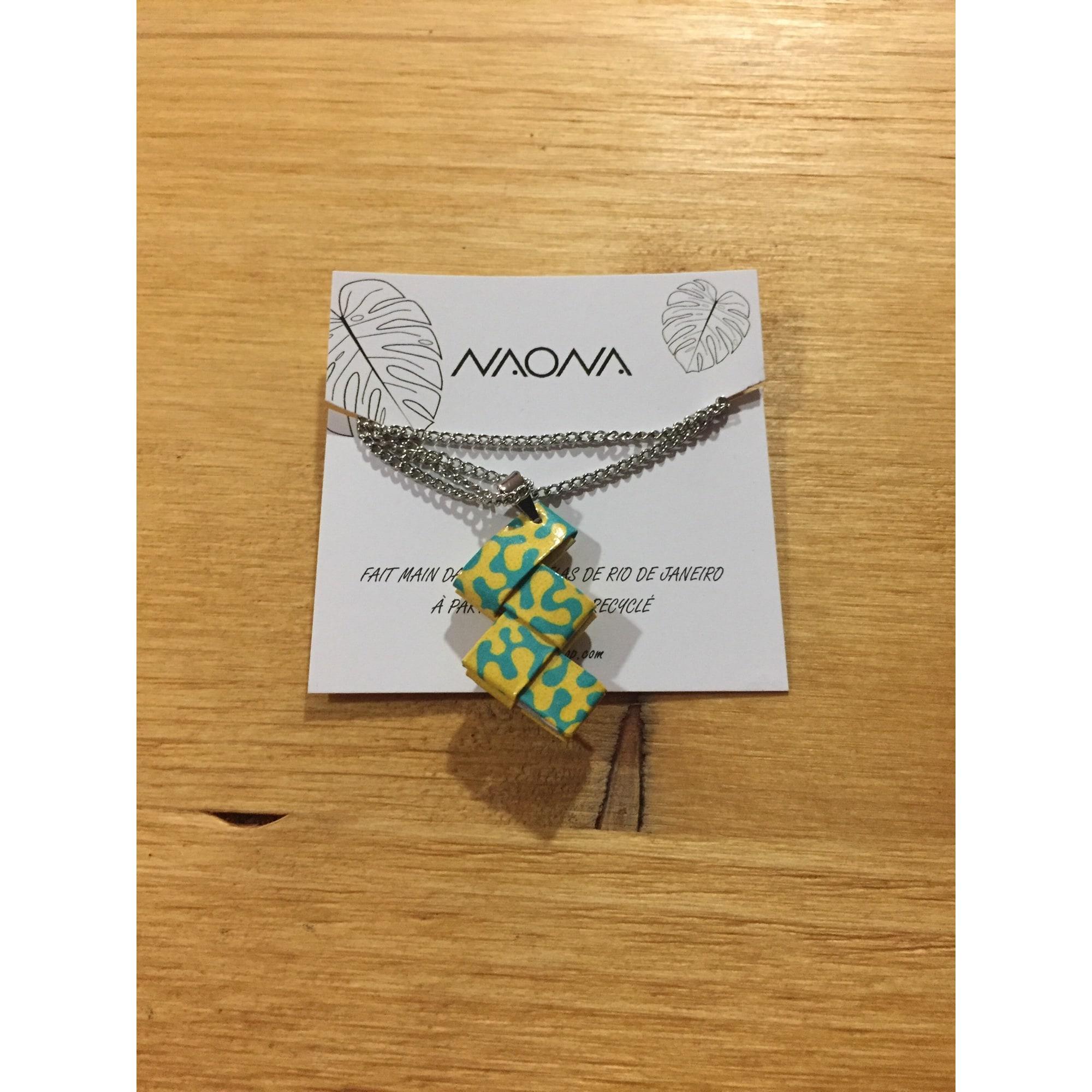 Collier NAONA inox jaune