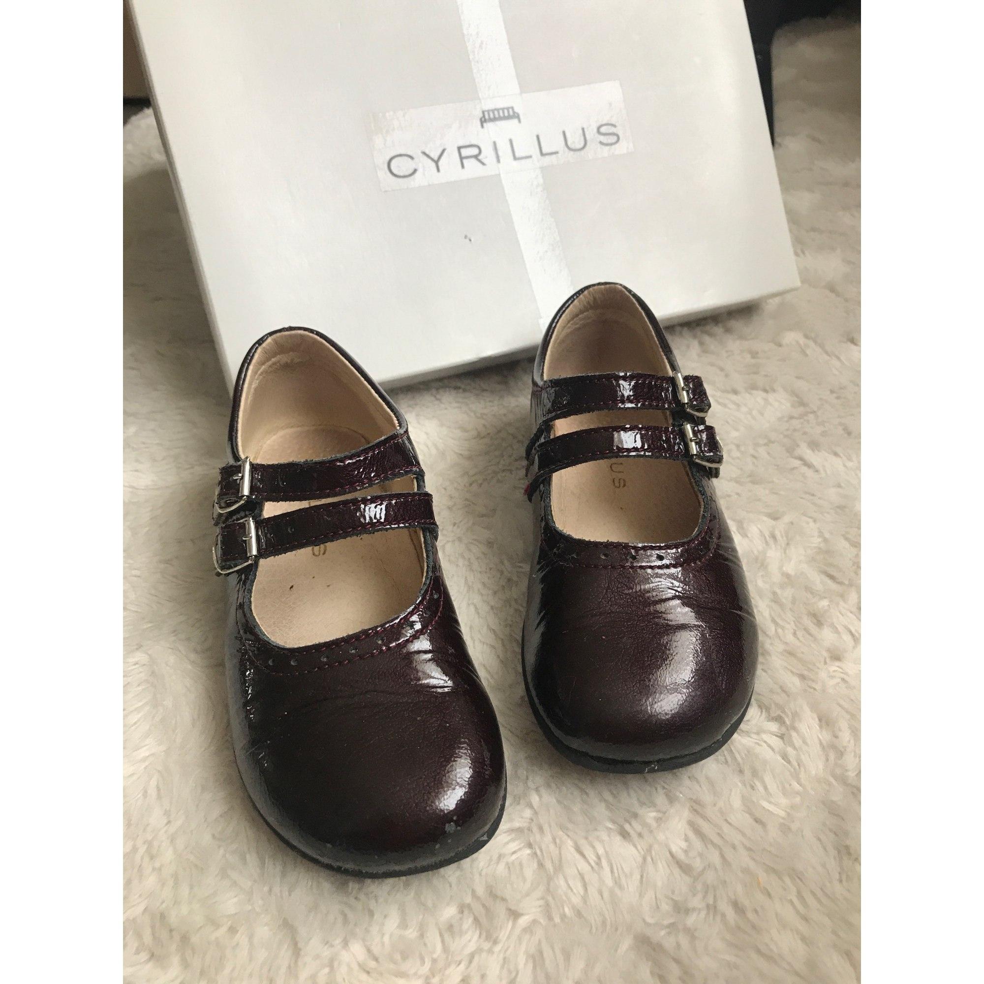 Chaussures à boucle CYRILLUS Rouge, bordeaux