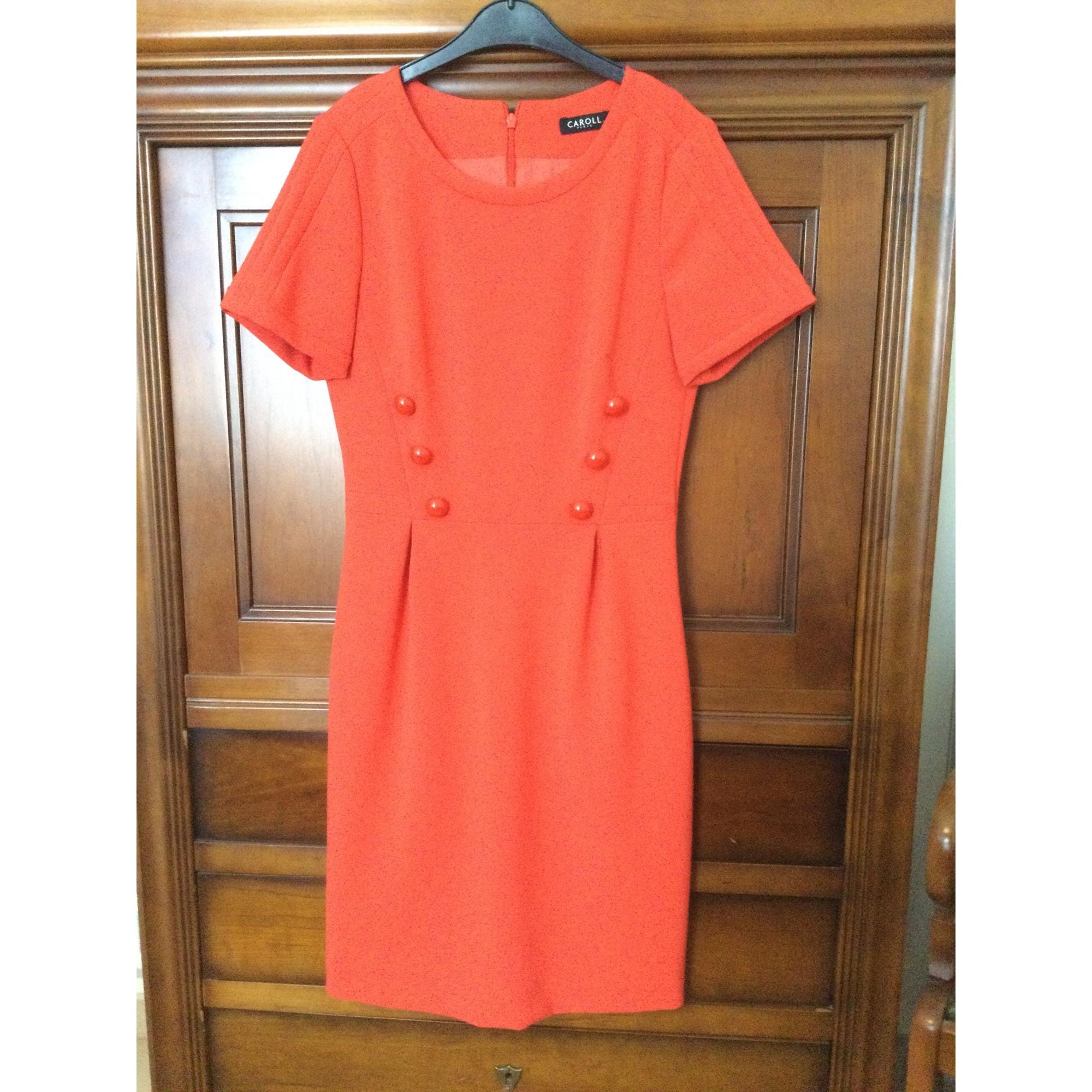 Robe courte CAROLL Orange