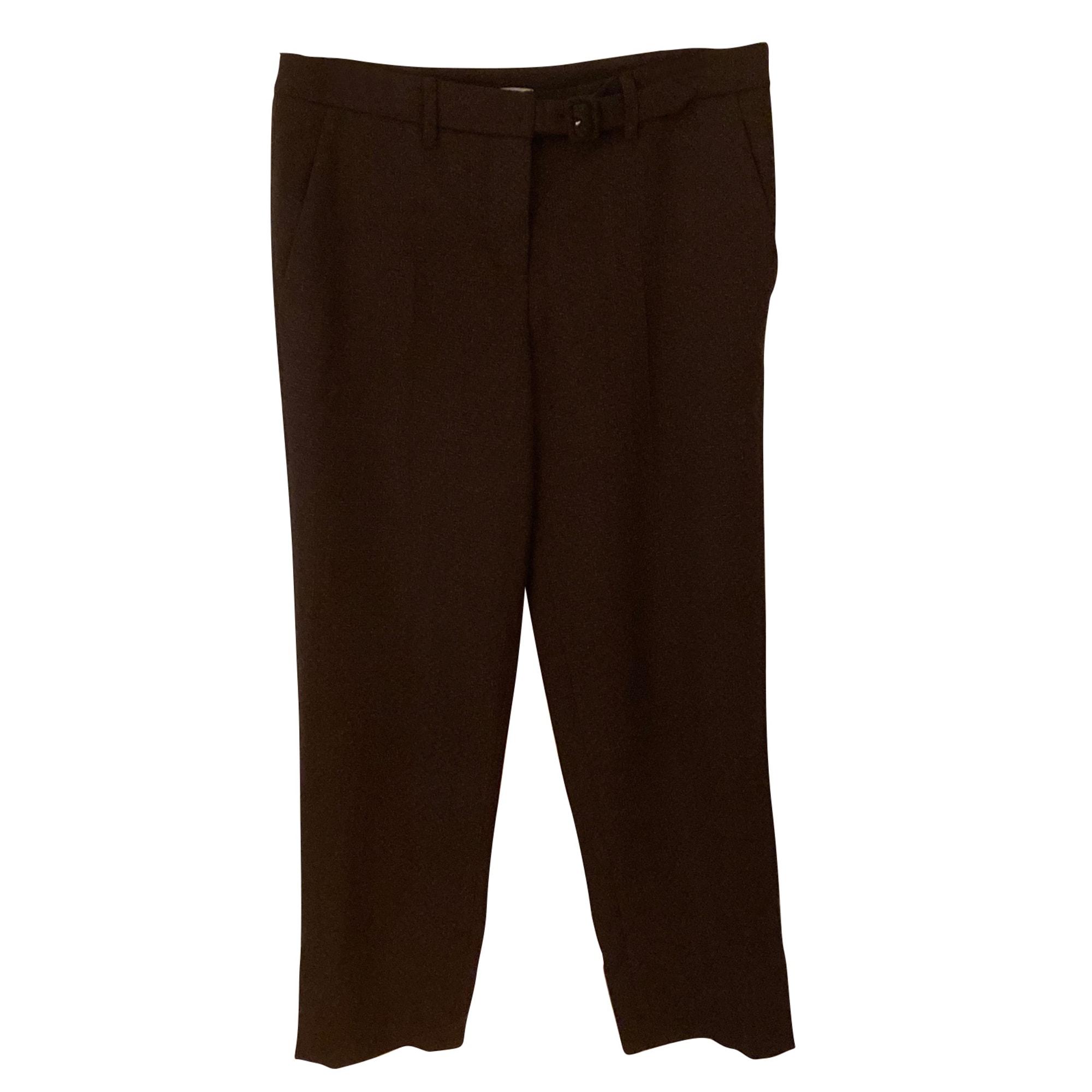 Pantalon droit MIU MIU Rouge, bordeaux