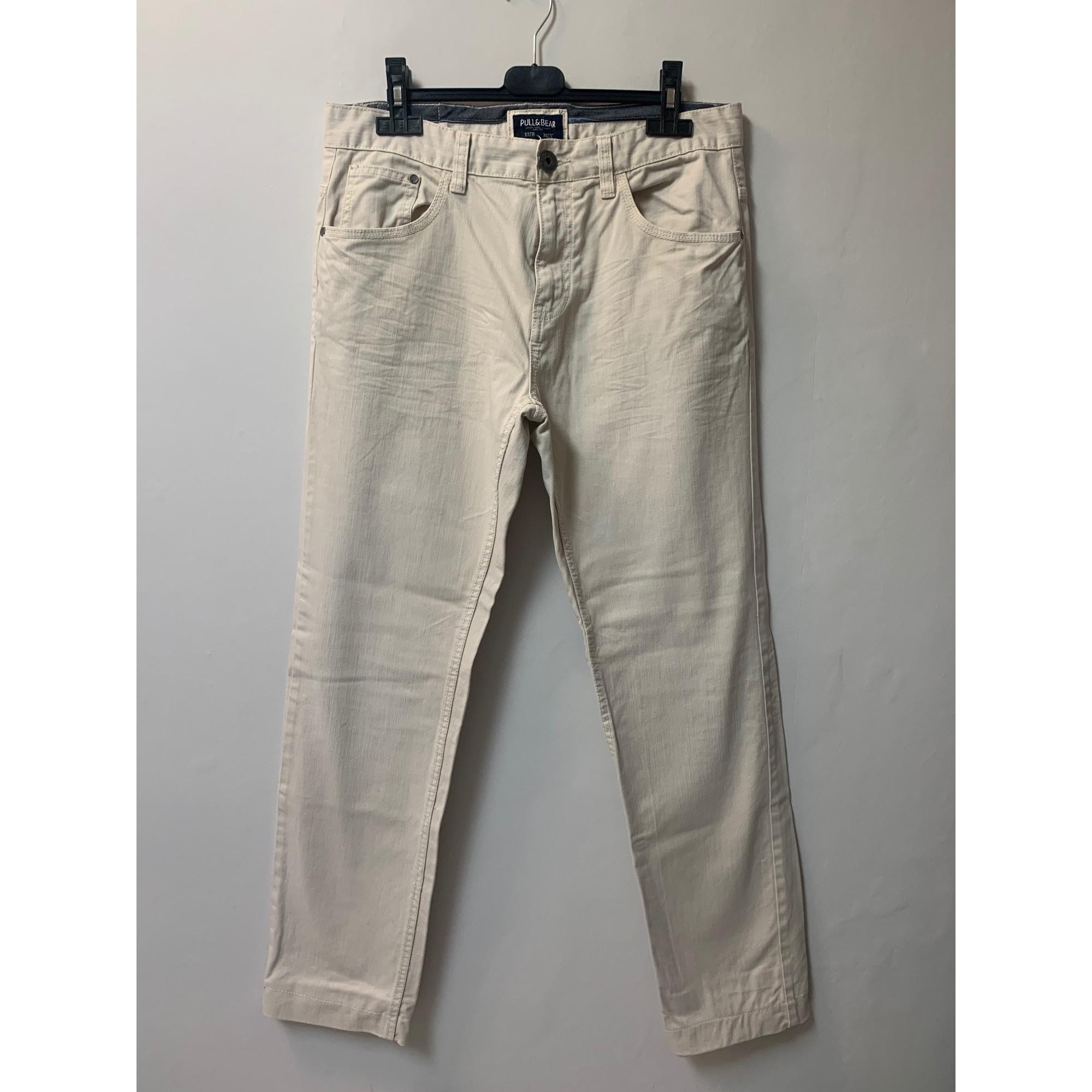 Pantalon droit PULL & BEAR Beige, camel