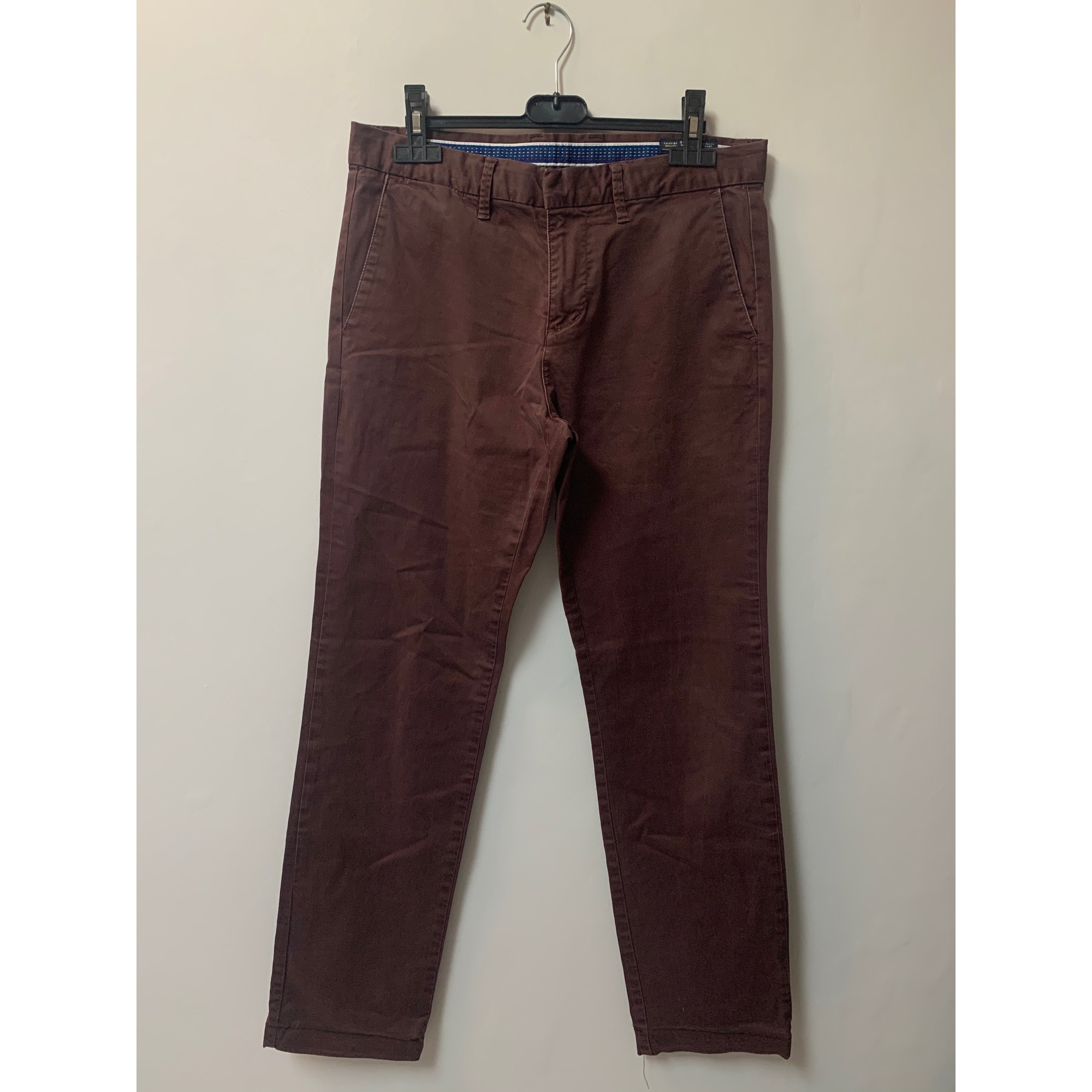 Pantalon droit JULES Marron