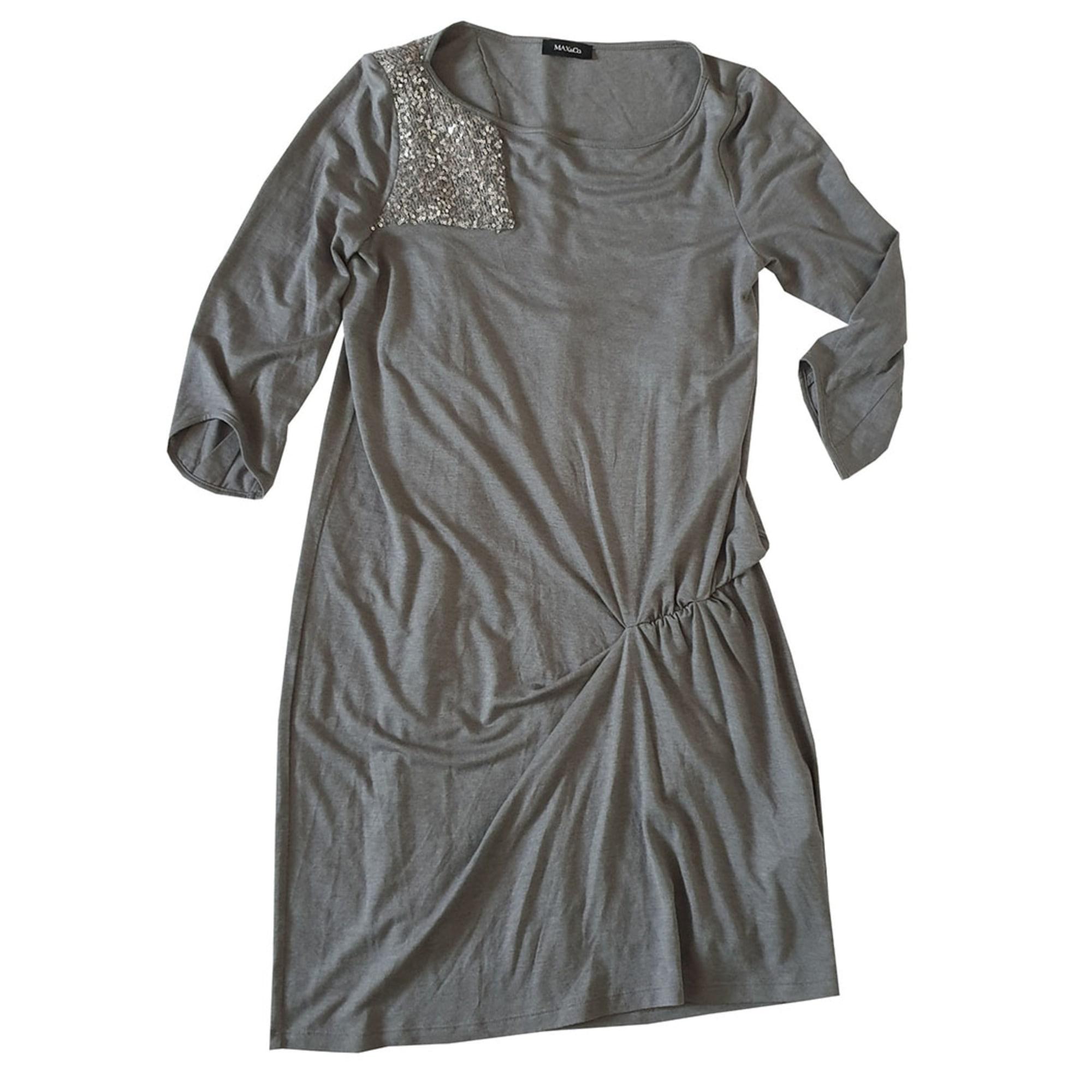 Robe mi-longue MAX & CO Gris, anthracite