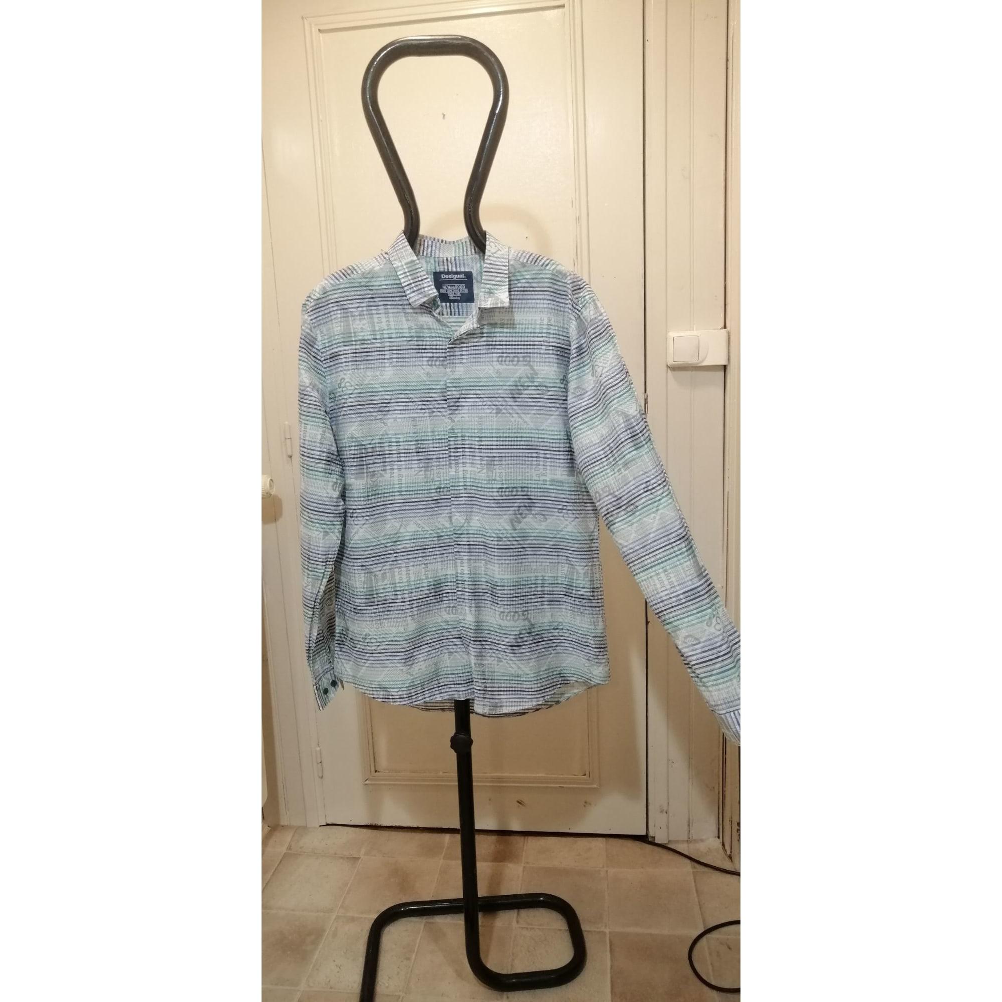 Shirt DESIGUAL bleu, vert , blanc