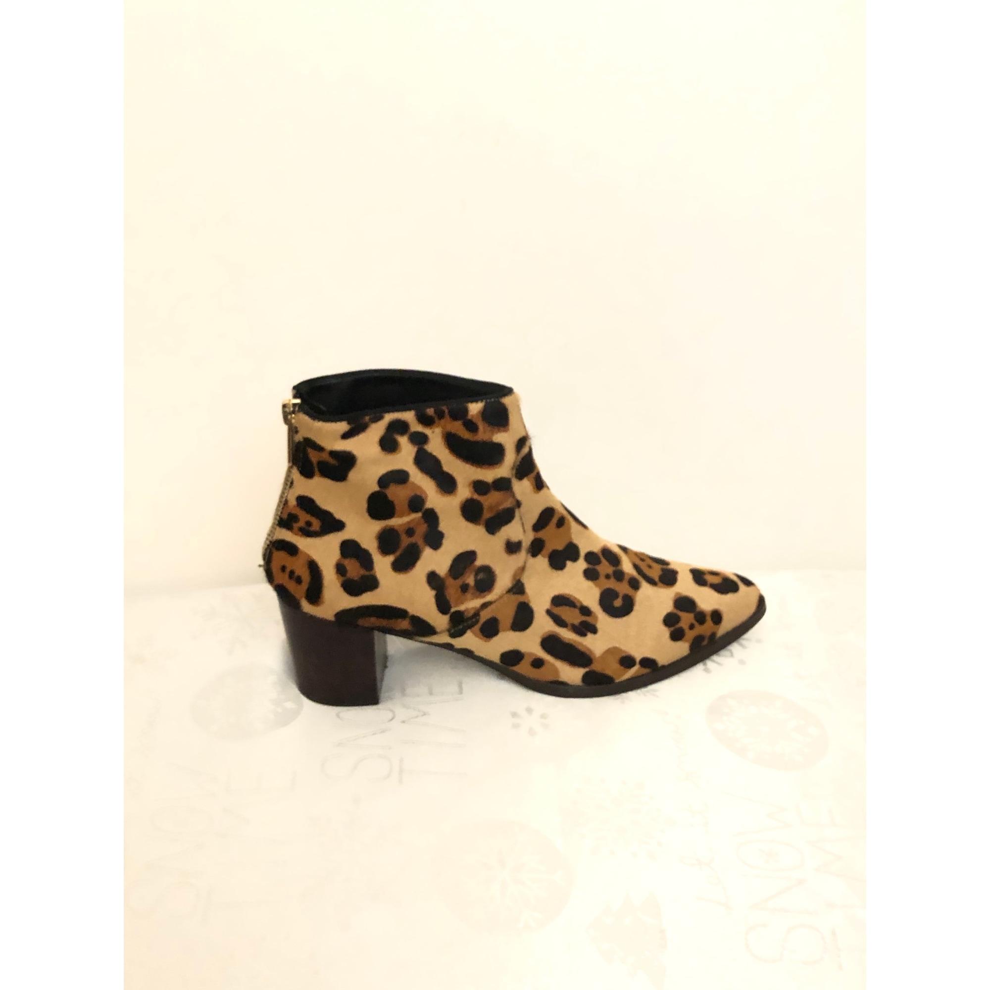 Bottines & low boots à talons BOCAGE Imprimés animaliers