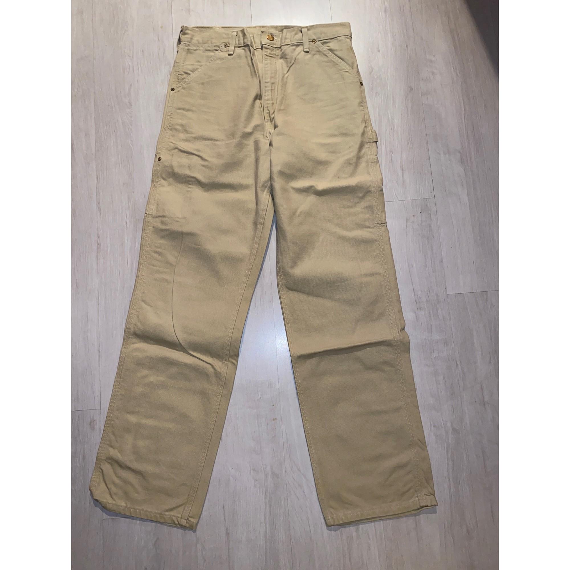 Jeans droit CARHARTT Beige, camel