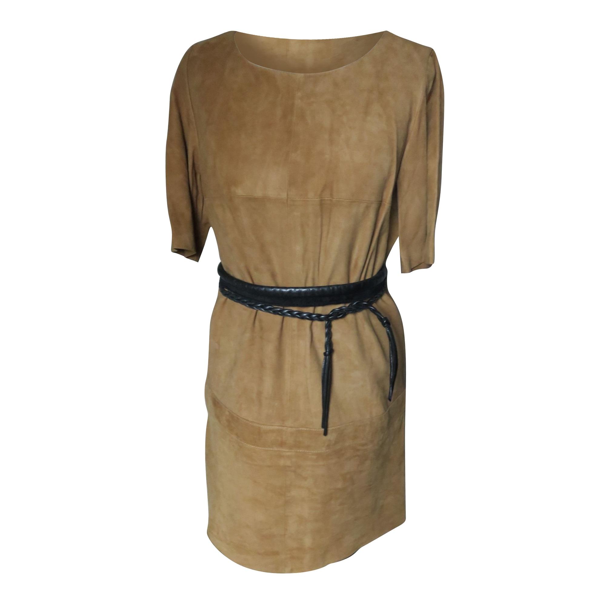 Robe courte BA&SH Beige, camel