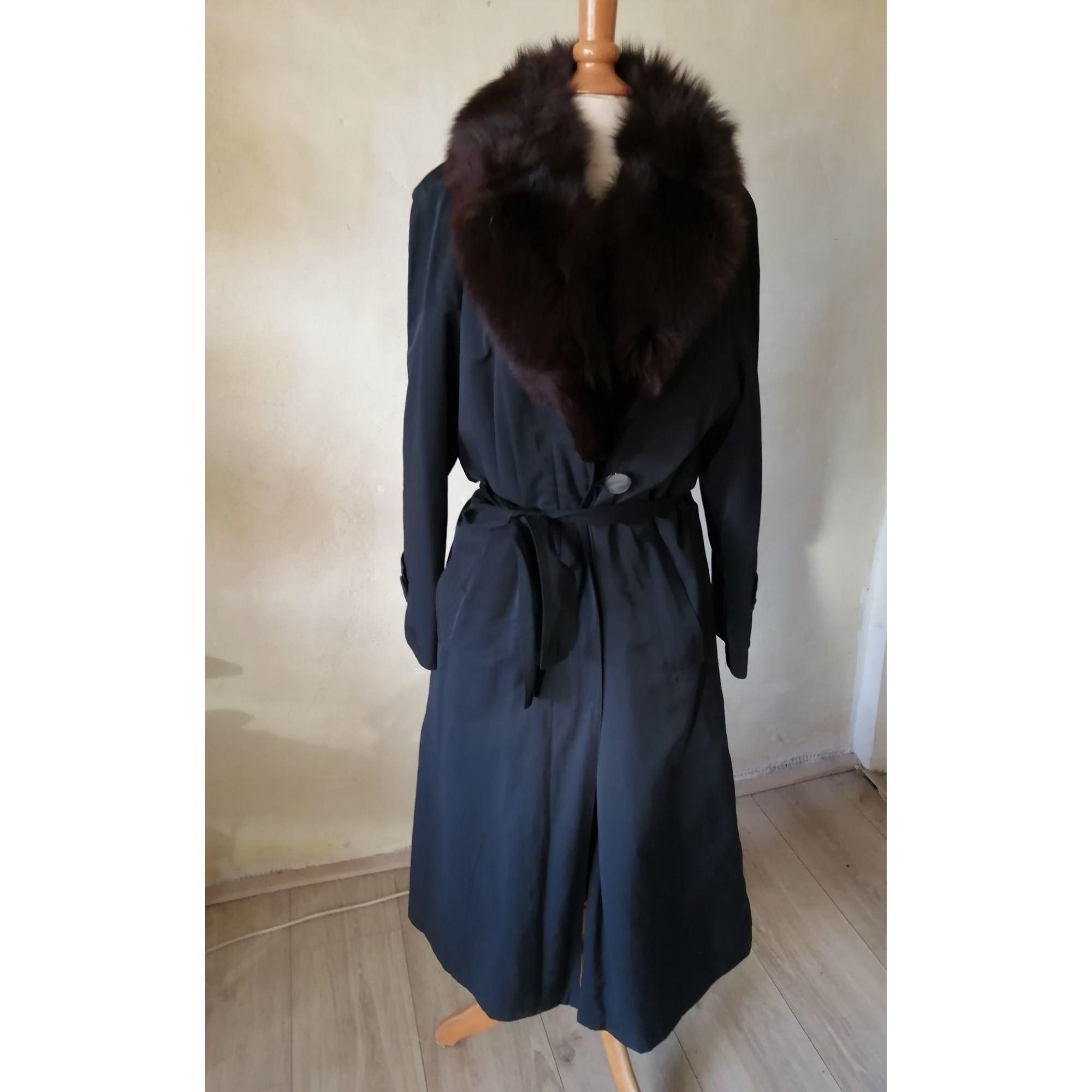 Manteau en fourrure CLAUDE ALEXANDRE PARIS Noir