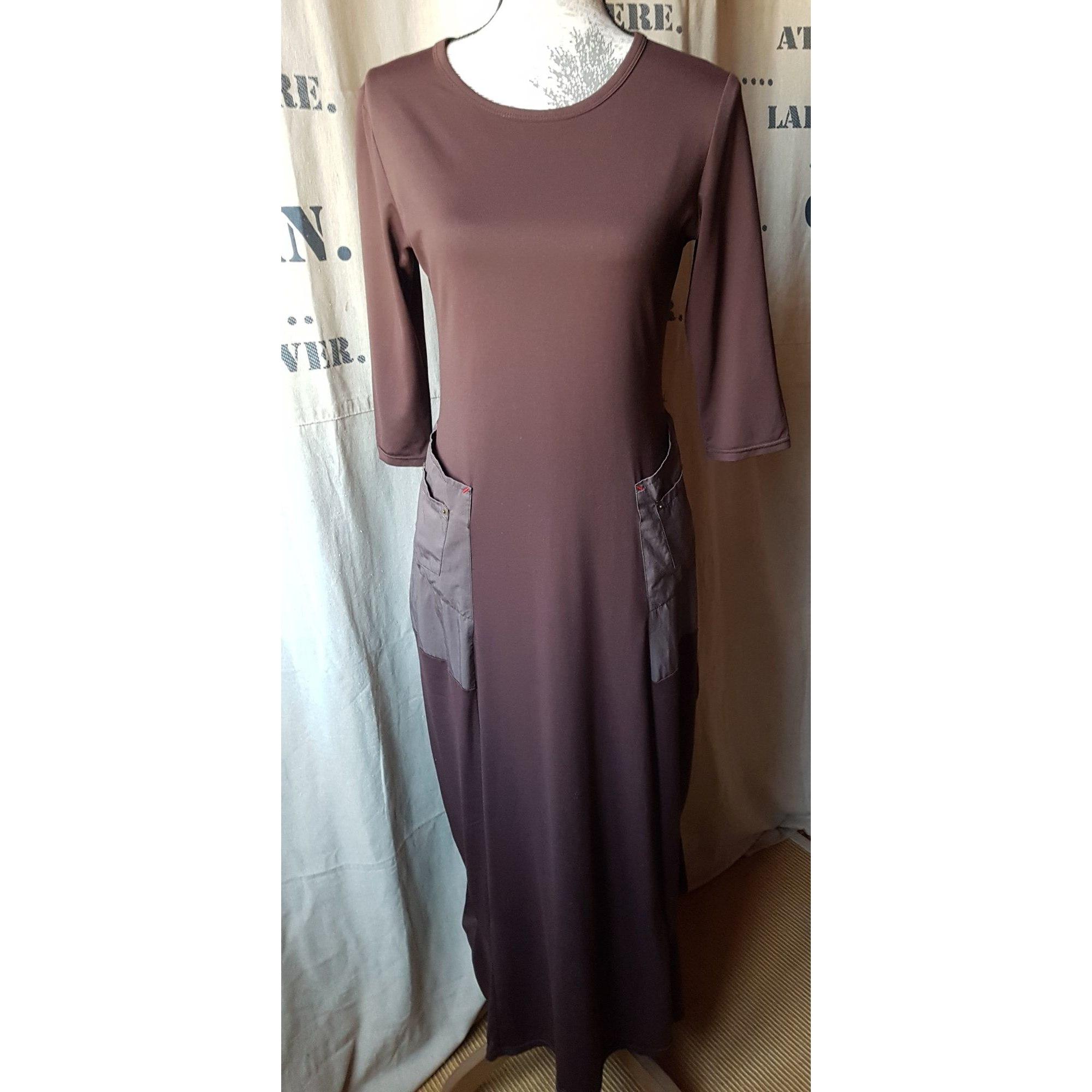 Robe longue DECA Marron