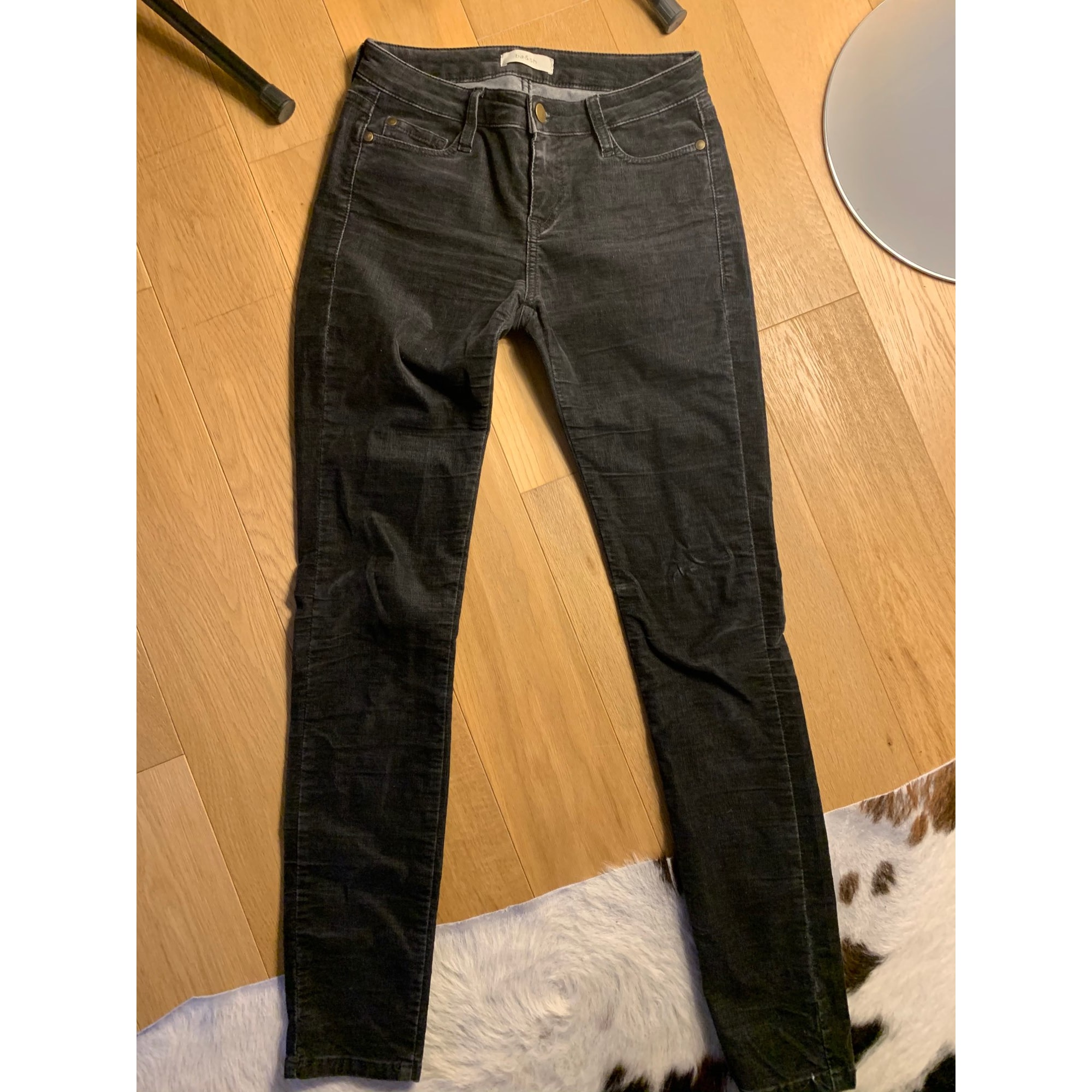 Jeans slim BA&SH Gris, anthracite