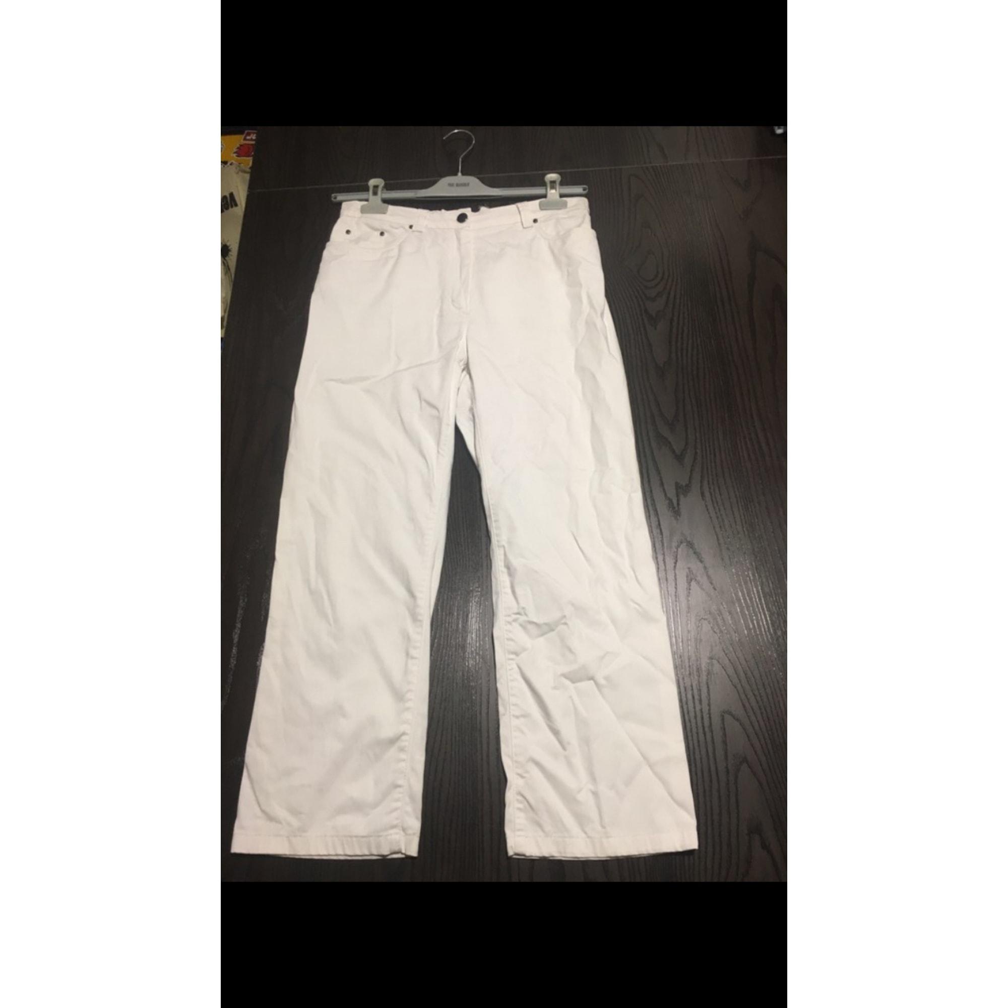 Pantalon droit ANTONELLE Blanc, blanc cassé, écru