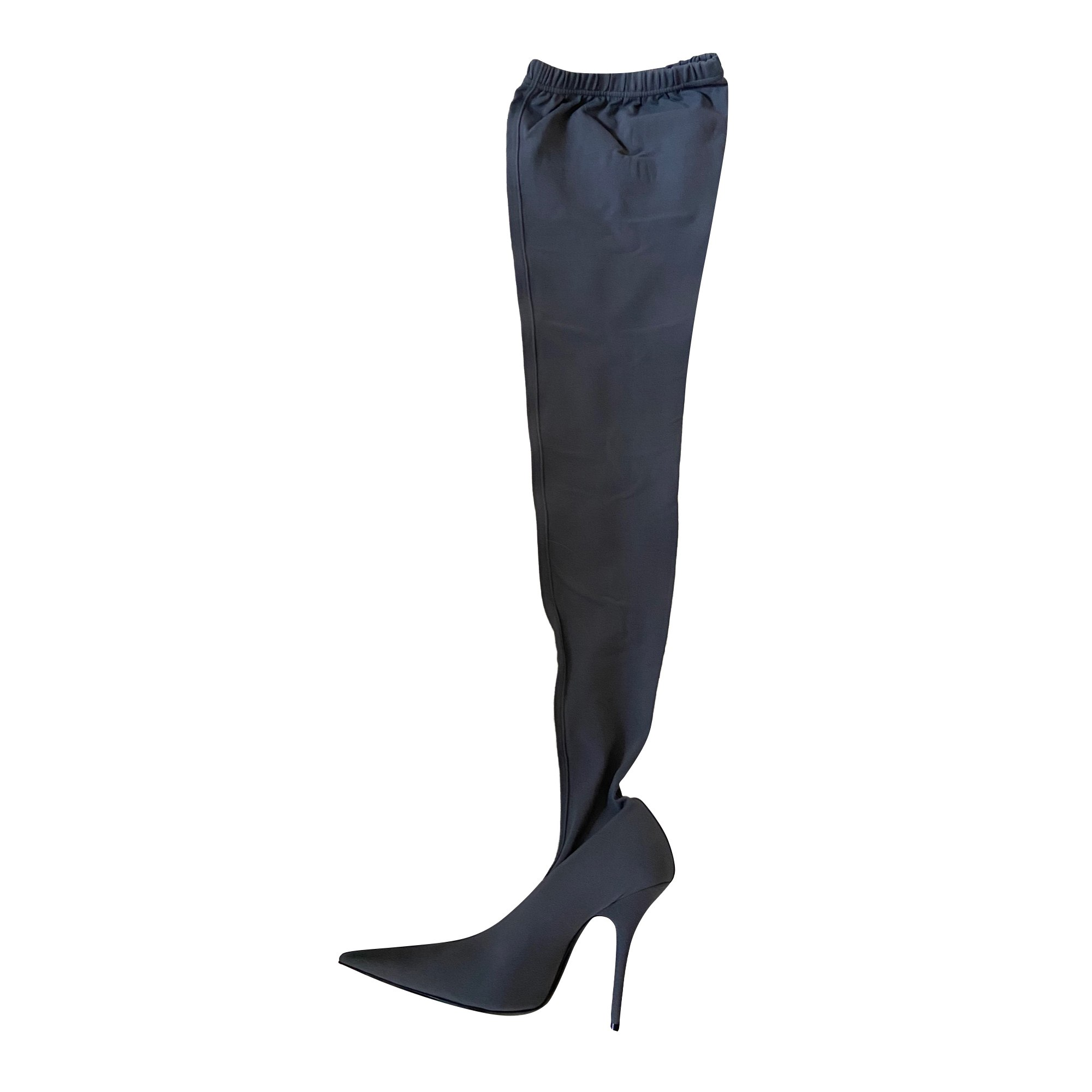 Bottes cuissards BALENCIAGA Knife Gris, anthracite