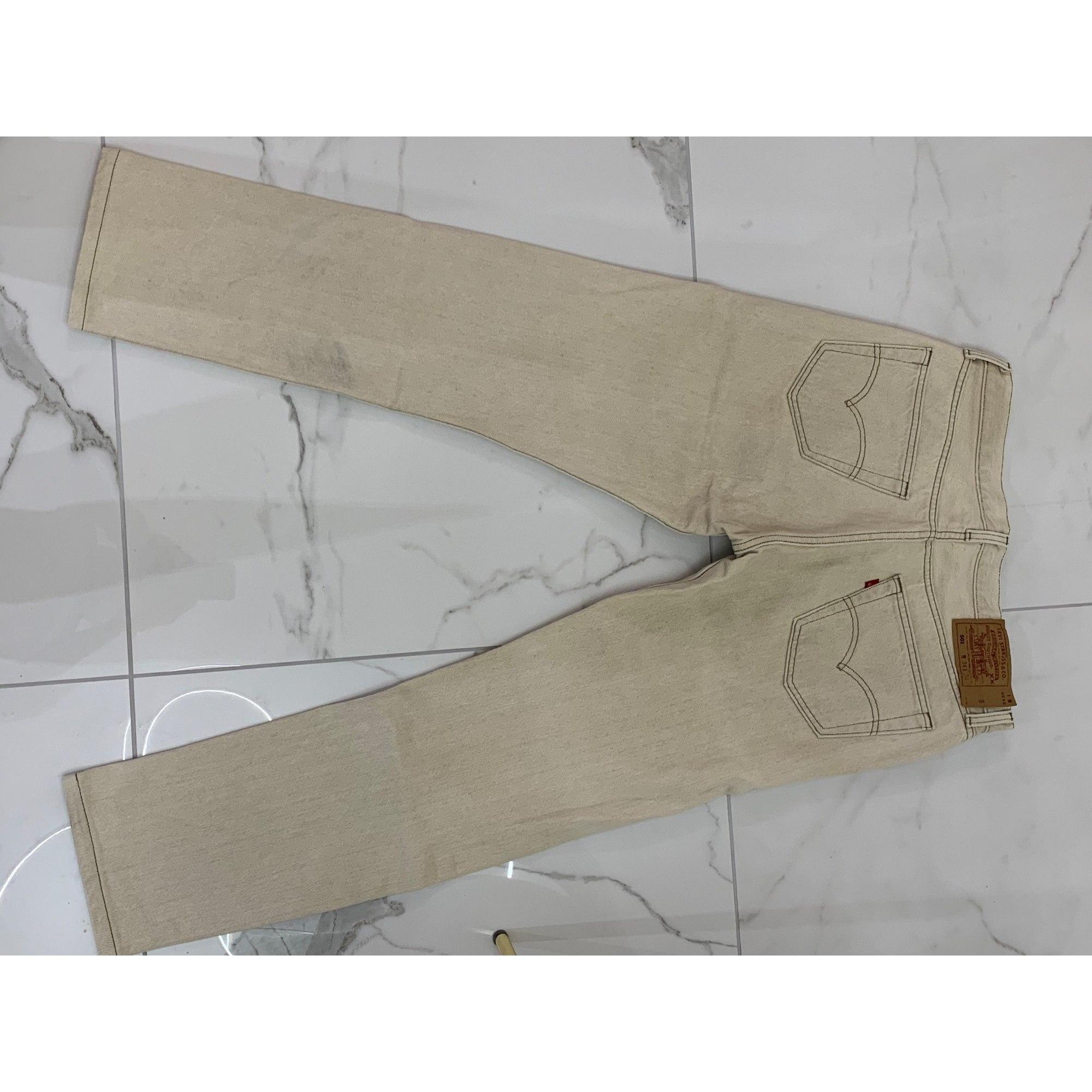 Jeans droit LEVI'S Beige, camel