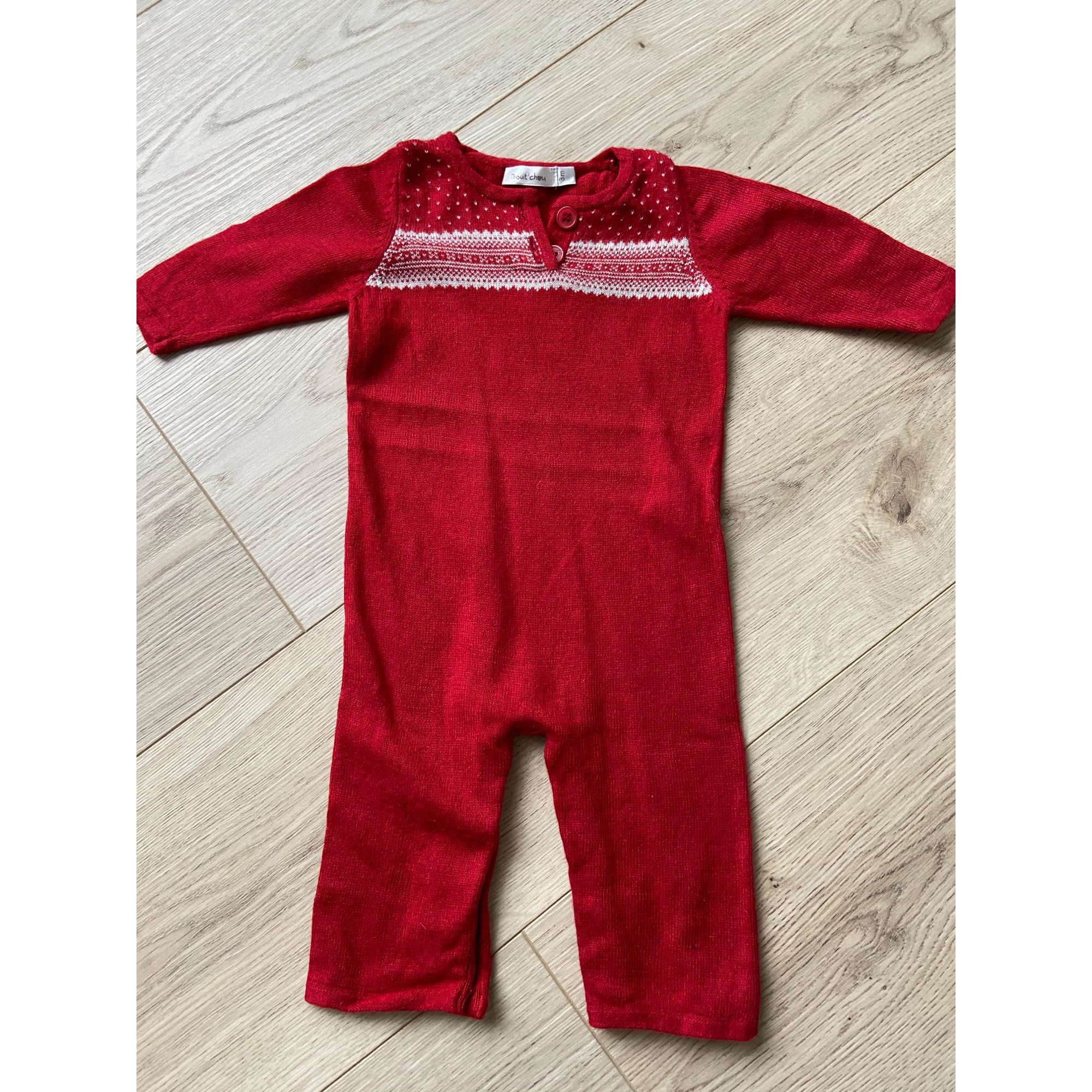 Pants Set, Outfit BOUT'CHOU Red, burgundy